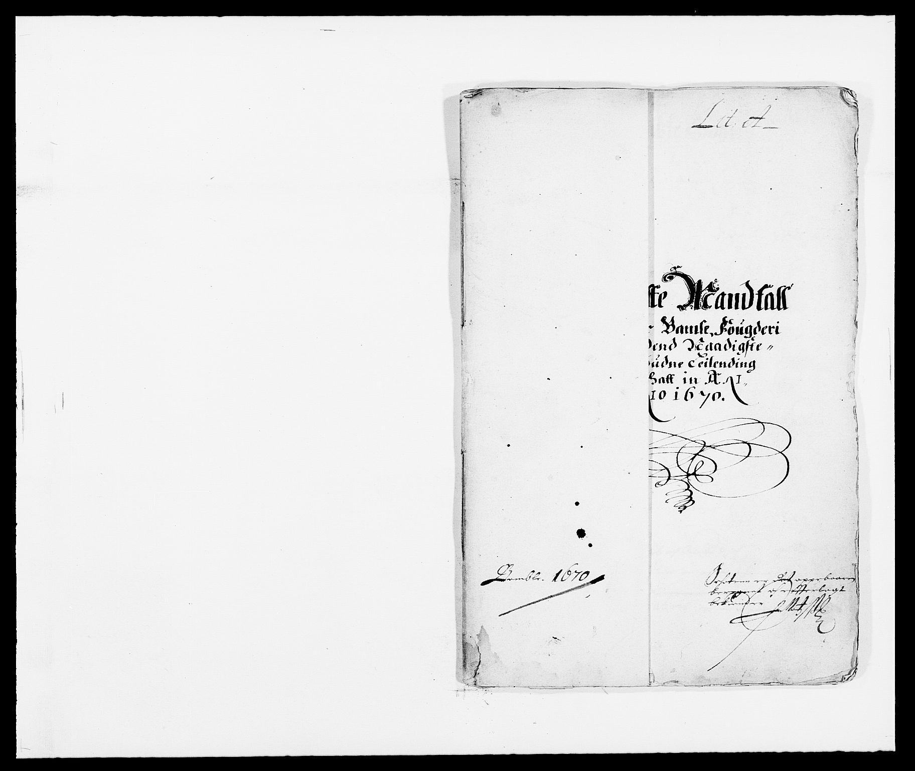 RA, Rentekammeret inntil 1814, Reviderte regnskaper, Fogderegnskap, R34/L2041: Fogderegnskap Bamble, 1670-1672, s. 4