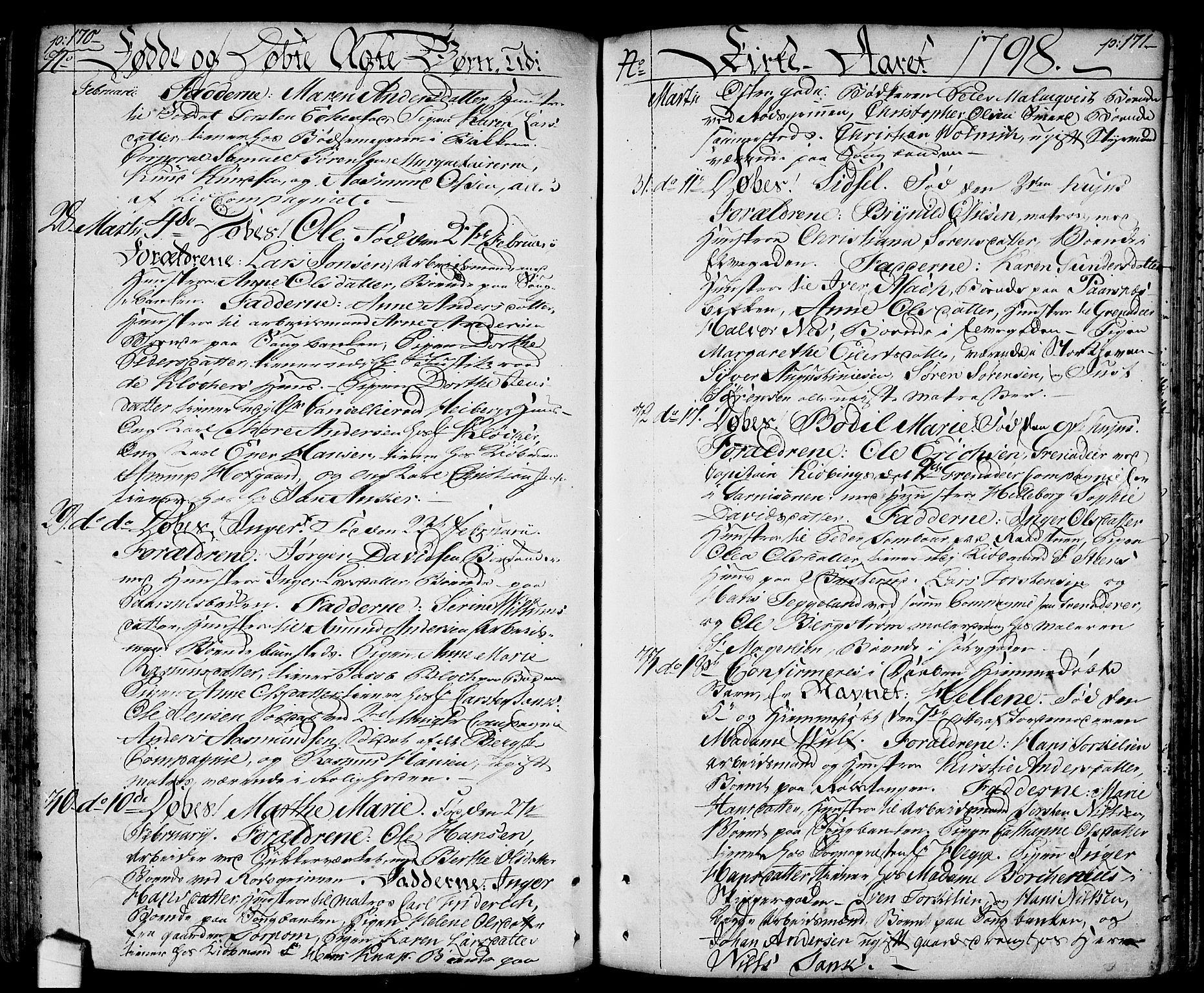 SAO, Halden prestekontor Kirkebøker, F/Fa/L0002: Ministerialbok nr. I 2, 1792-1812, s. 170-171