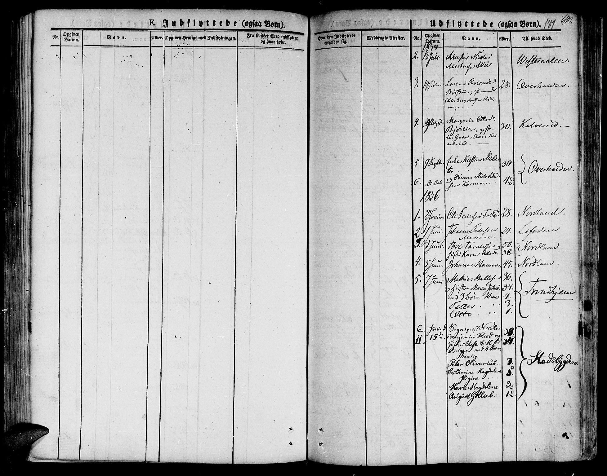SAT, Ministerialprotokoller, klokkerbøker og fødselsregistre - Nord-Trøndelag, 758/L0510: Ministerialbok nr. 758A01 /1, 1821-1841, s. 181