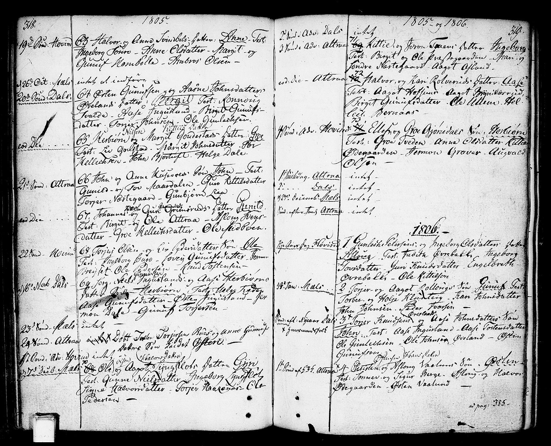 SAKO, Tinn kirkebøker, F/Fa/L0002: Ministerialbok nr. I 2, 1757-1810, s. 318-319