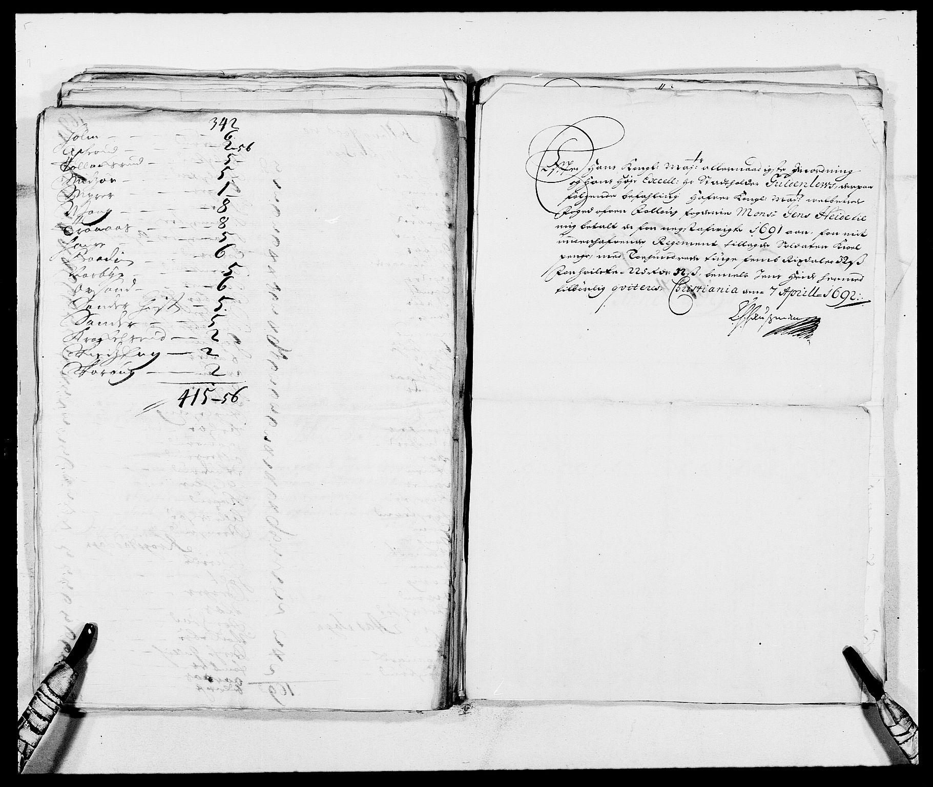 RA, Rentekammeret inntil 1814, Reviderte regnskaper, Fogderegnskap, R09/L0436: Fogderegnskap Follo, 1685-1691, s. 231