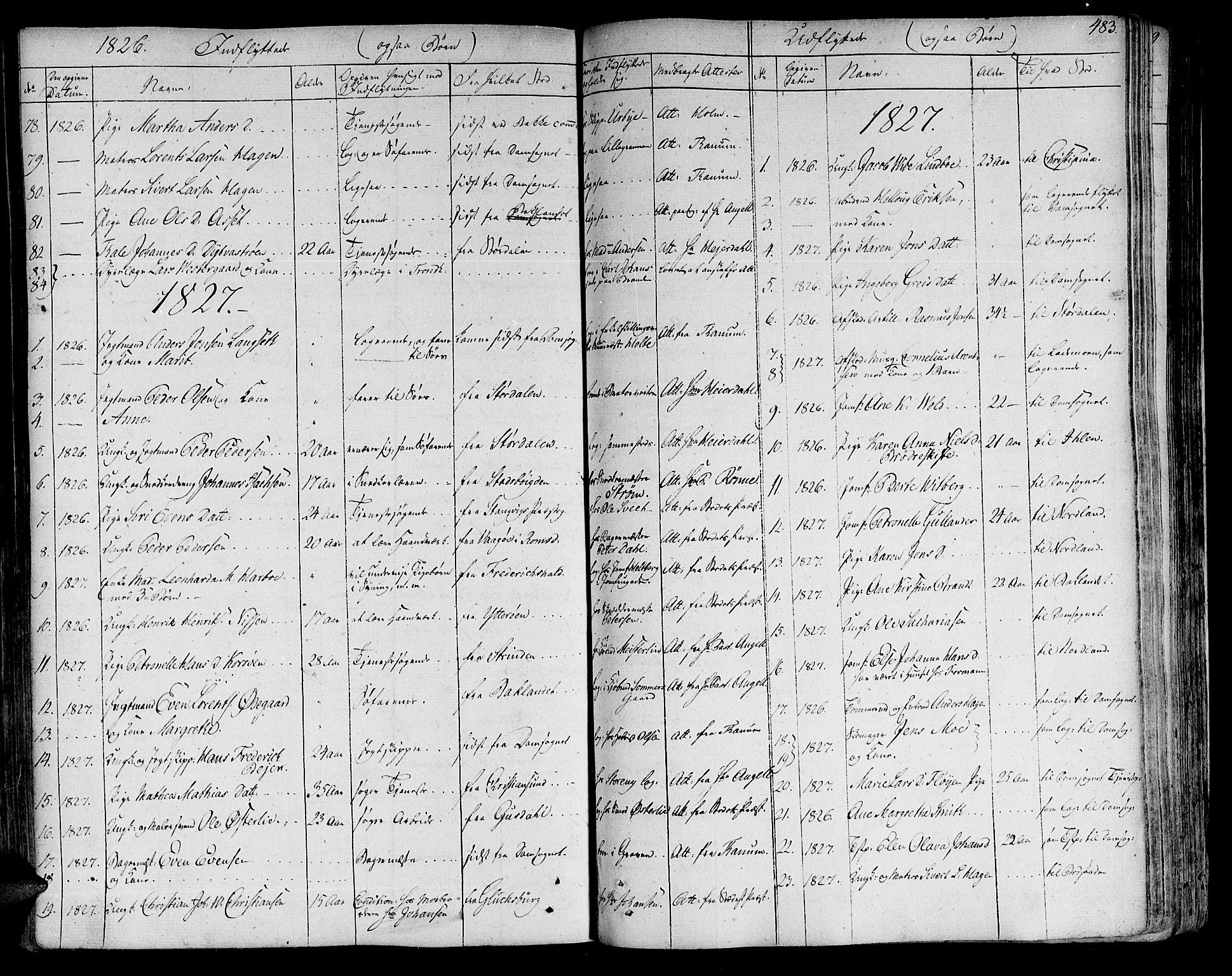 SAT, Ministerialprotokoller, klokkerbøker og fødselsregistre - Sør-Trøndelag, 602/L0109: Ministerialbok nr. 602A07, 1821-1840, s. 483