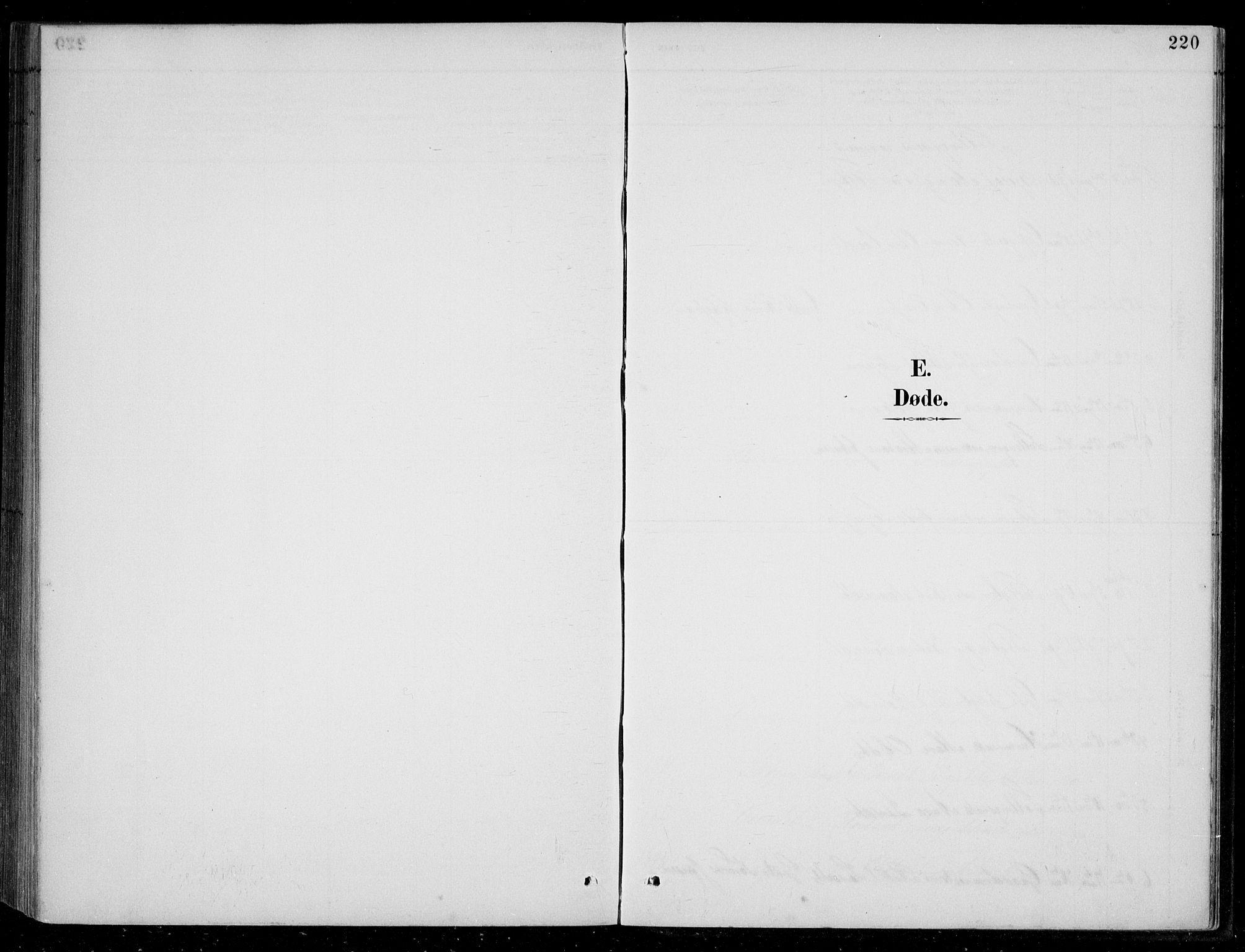 SAK, Bjelland sokneprestkontor, F/Fb/Fbc/L0003: Klokkerbok nr. B 3, 1887-1924, s. 220