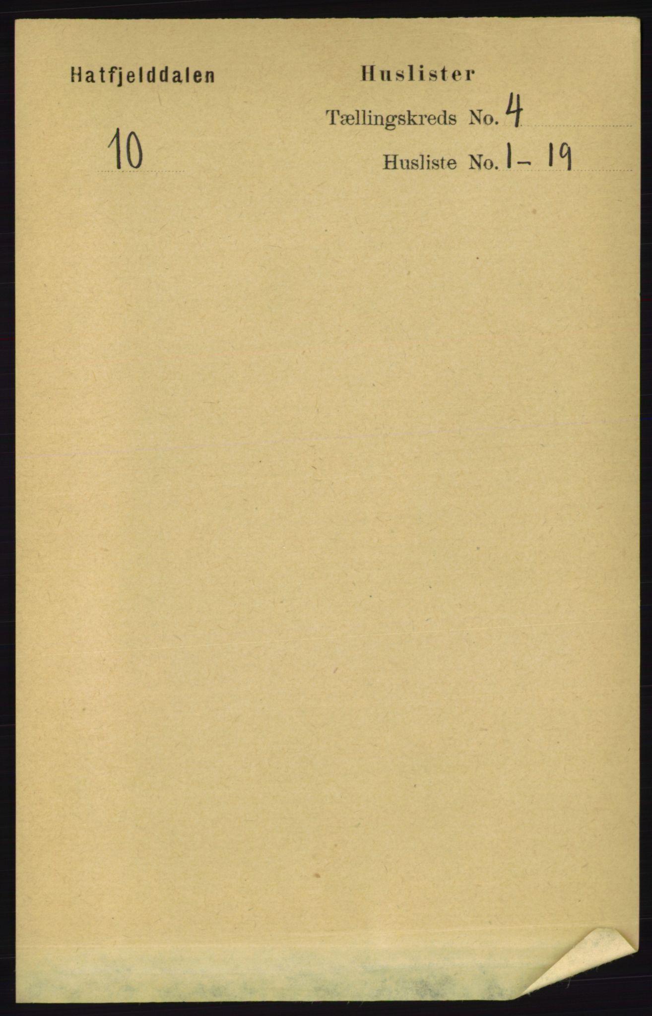 RA, Folketelling 1891 for 1826 Hattfjelldal herred, 1891, s. 896