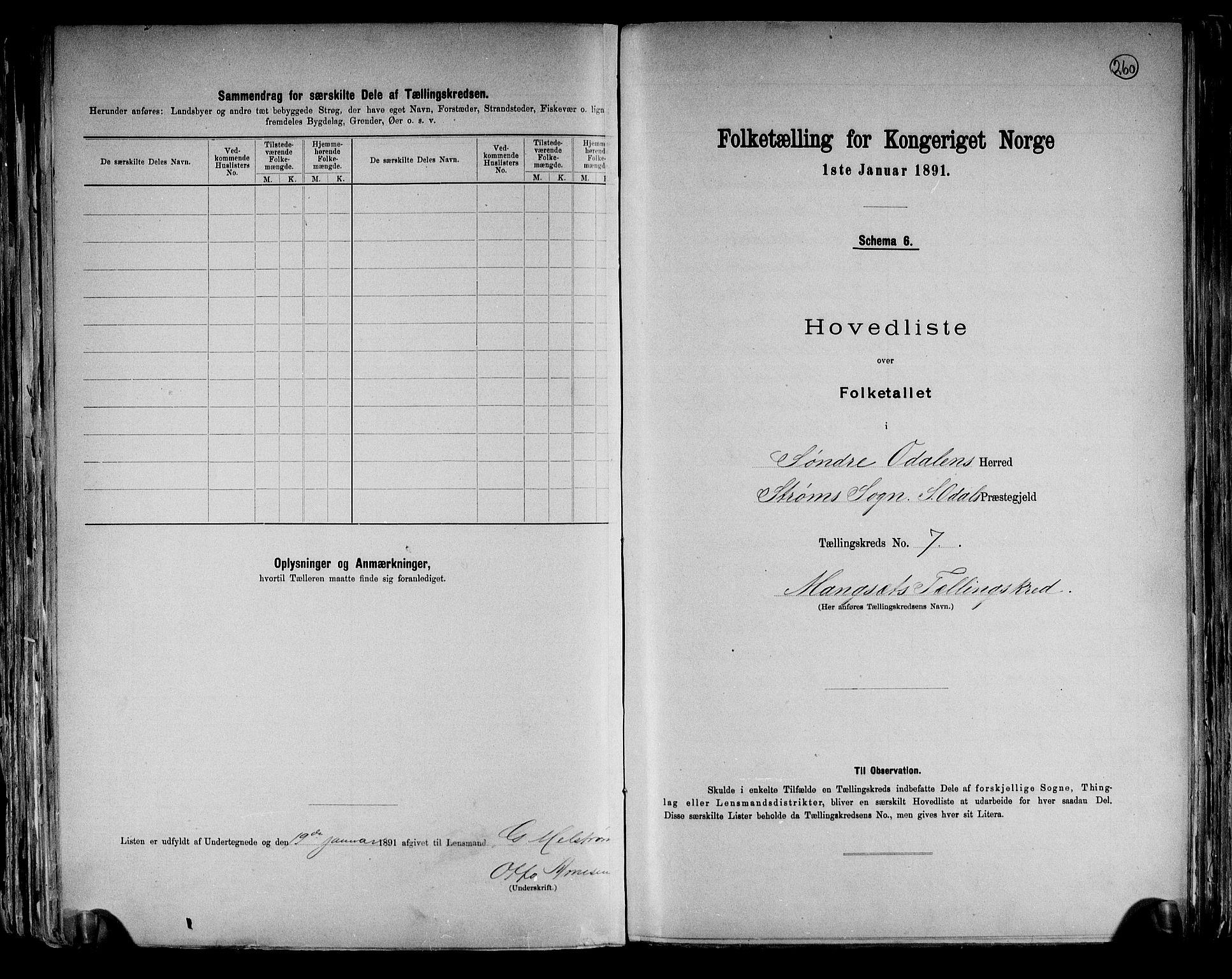 RA, Folketelling 1891 for 0419 Sør-Odal herred, 1891, s. 22