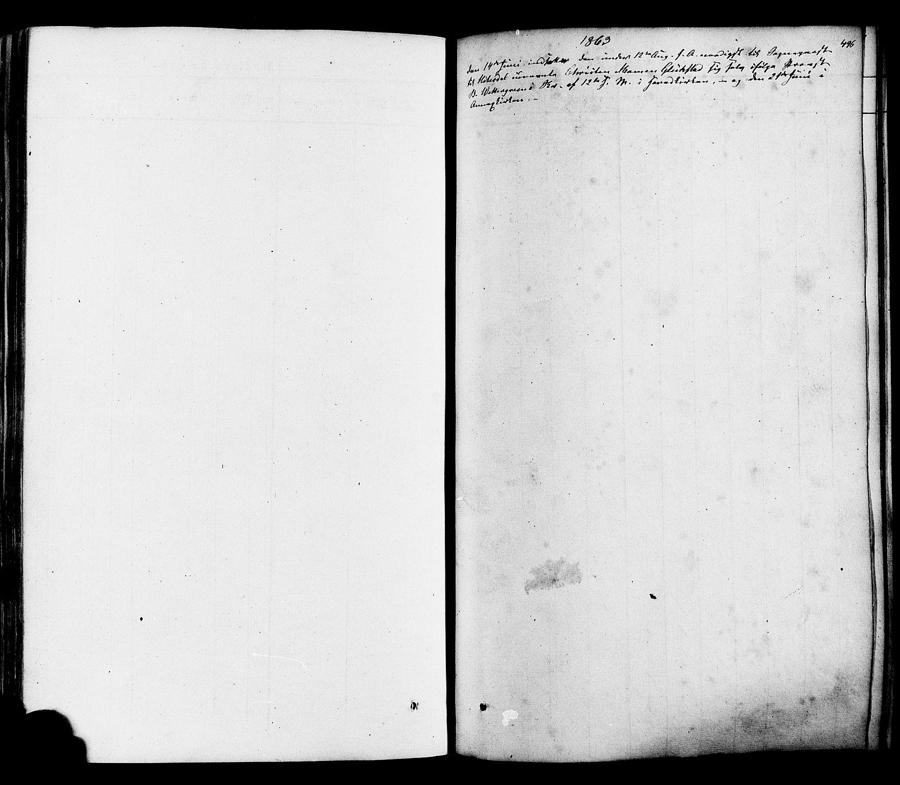 SAKO, Heddal kirkebøker, F/Fa/L0007: Ministerialbok nr. I 7, 1855-1877, s. 496