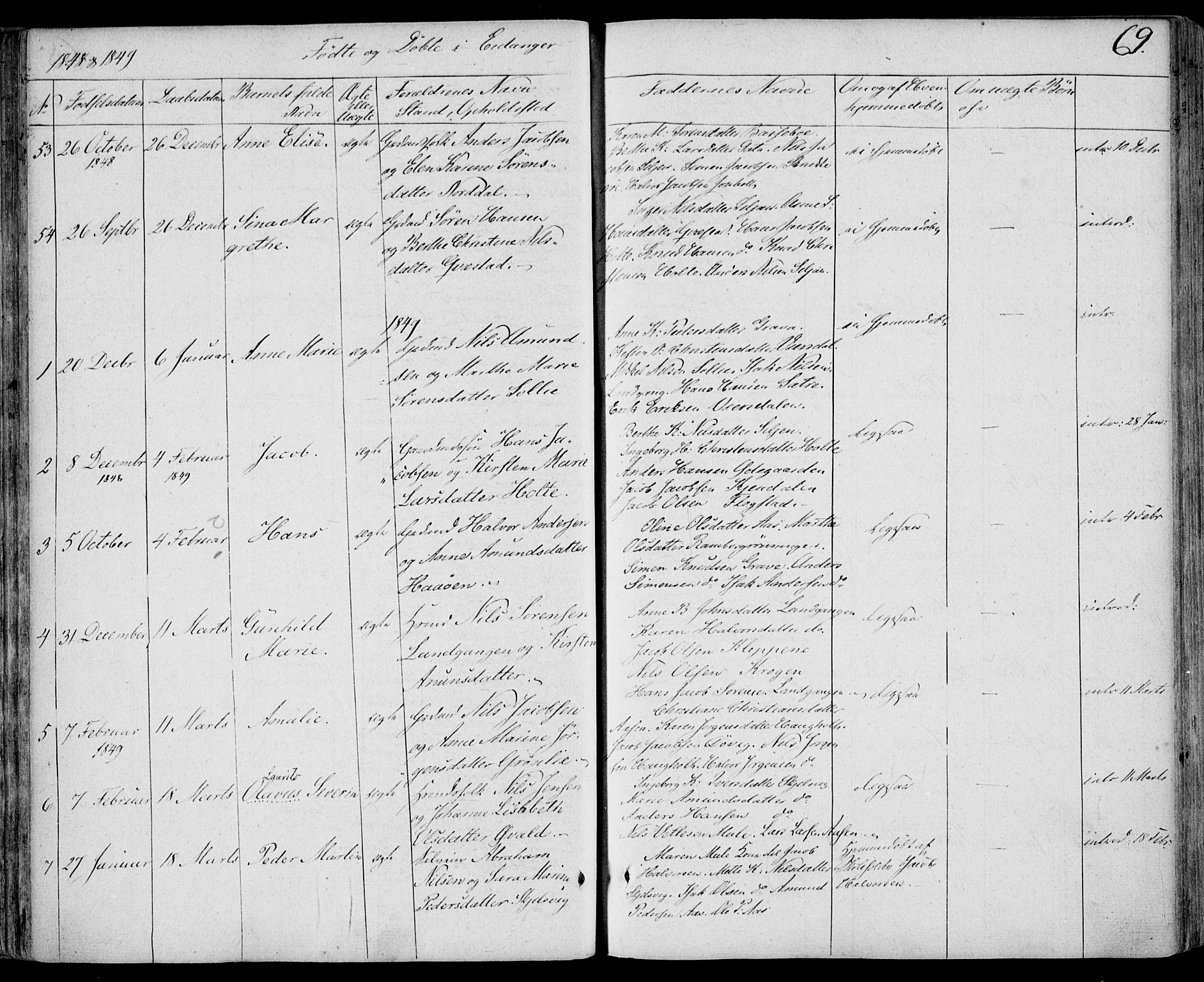 SAKO, Eidanger kirkebøker, F/Fa/L0008: Ministerialbok nr. 8, 1831-1858, s. 69