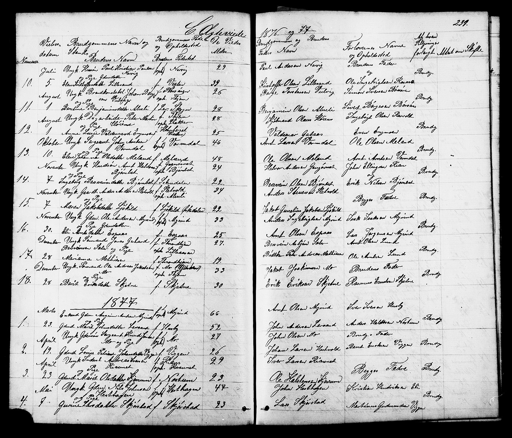 SAT, Ministerialprotokoller, klokkerbøker og fødselsregistre - Sør-Trøndelag, 665/L0777: Klokkerbok nr. 665C02, 1867-1915, s. 231