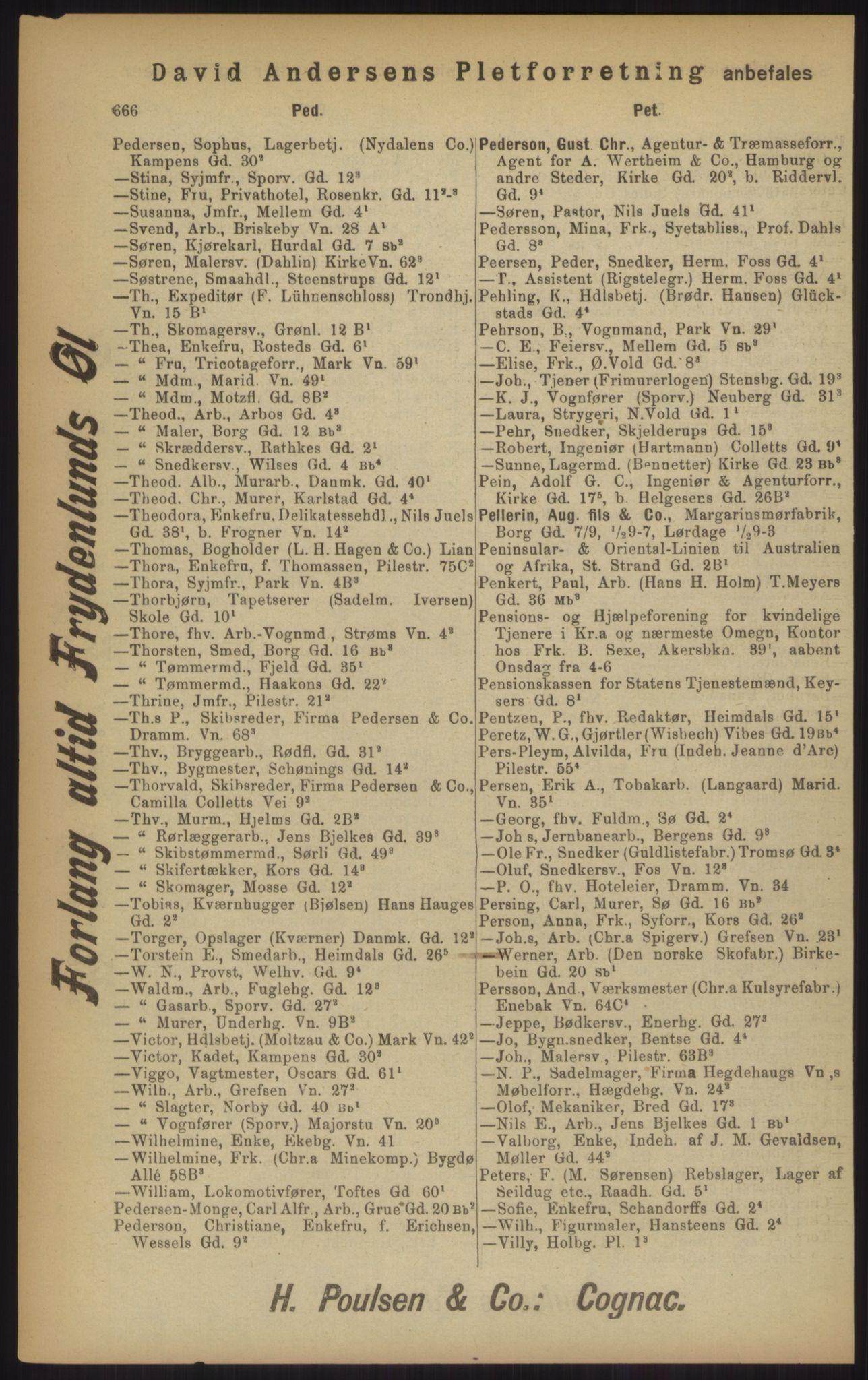 PUBL, Kristiania/Oslo adressebok, 1902, s. 666