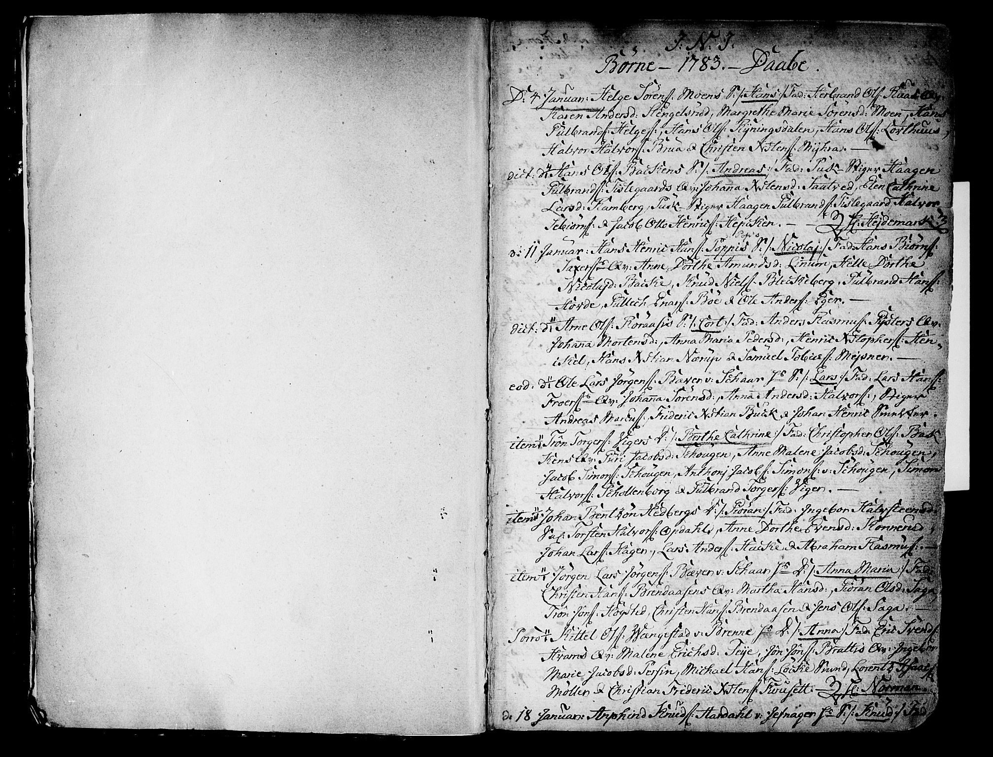 SAKO, Kongsberg kirkebøker, F/Fa/L0006: Ministerialbok nr. I 6, 1783-1797, s. 2