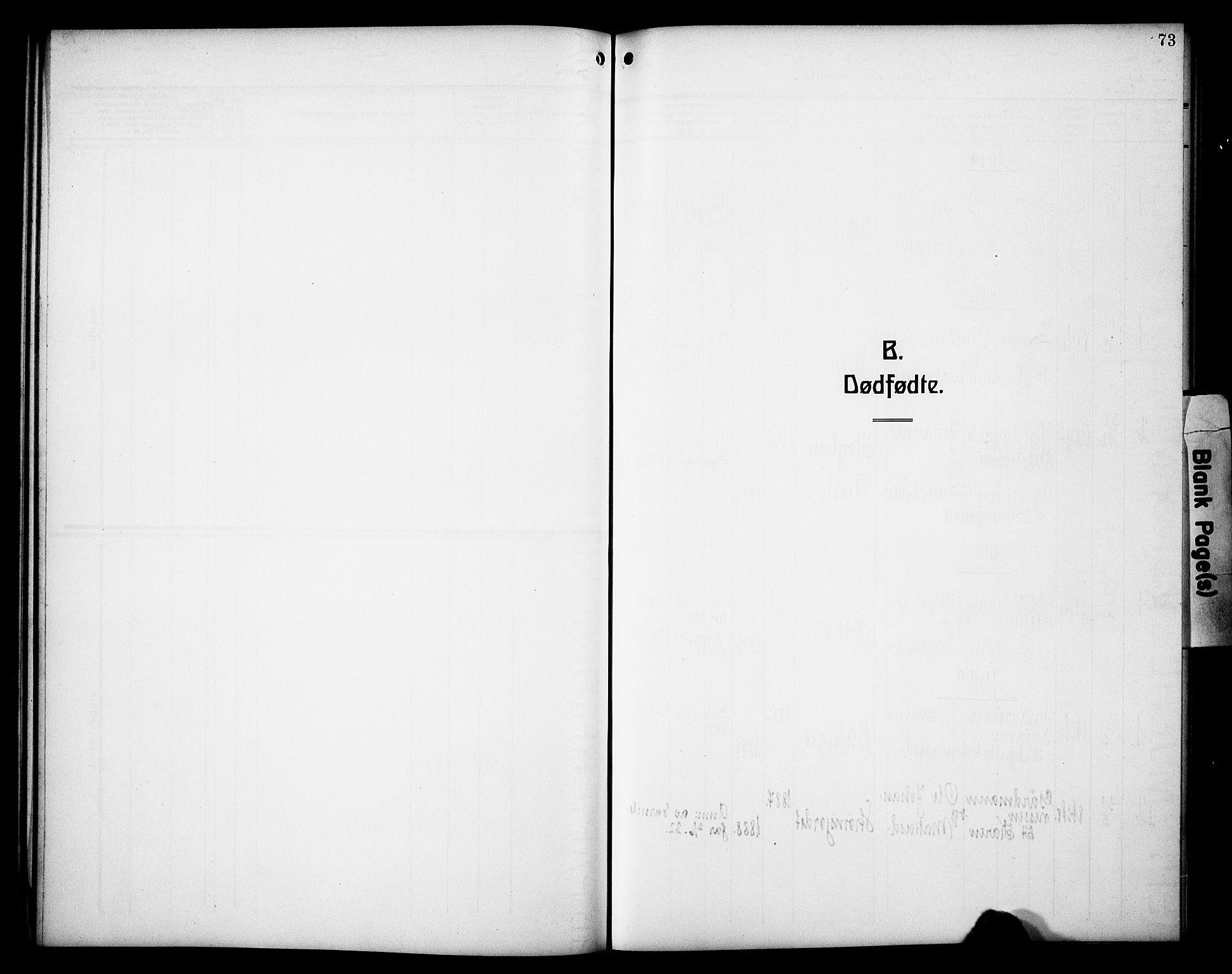 SAH, Øyer prestekontor, Klokkerbok nr. 7, 1913-1928, s. 73