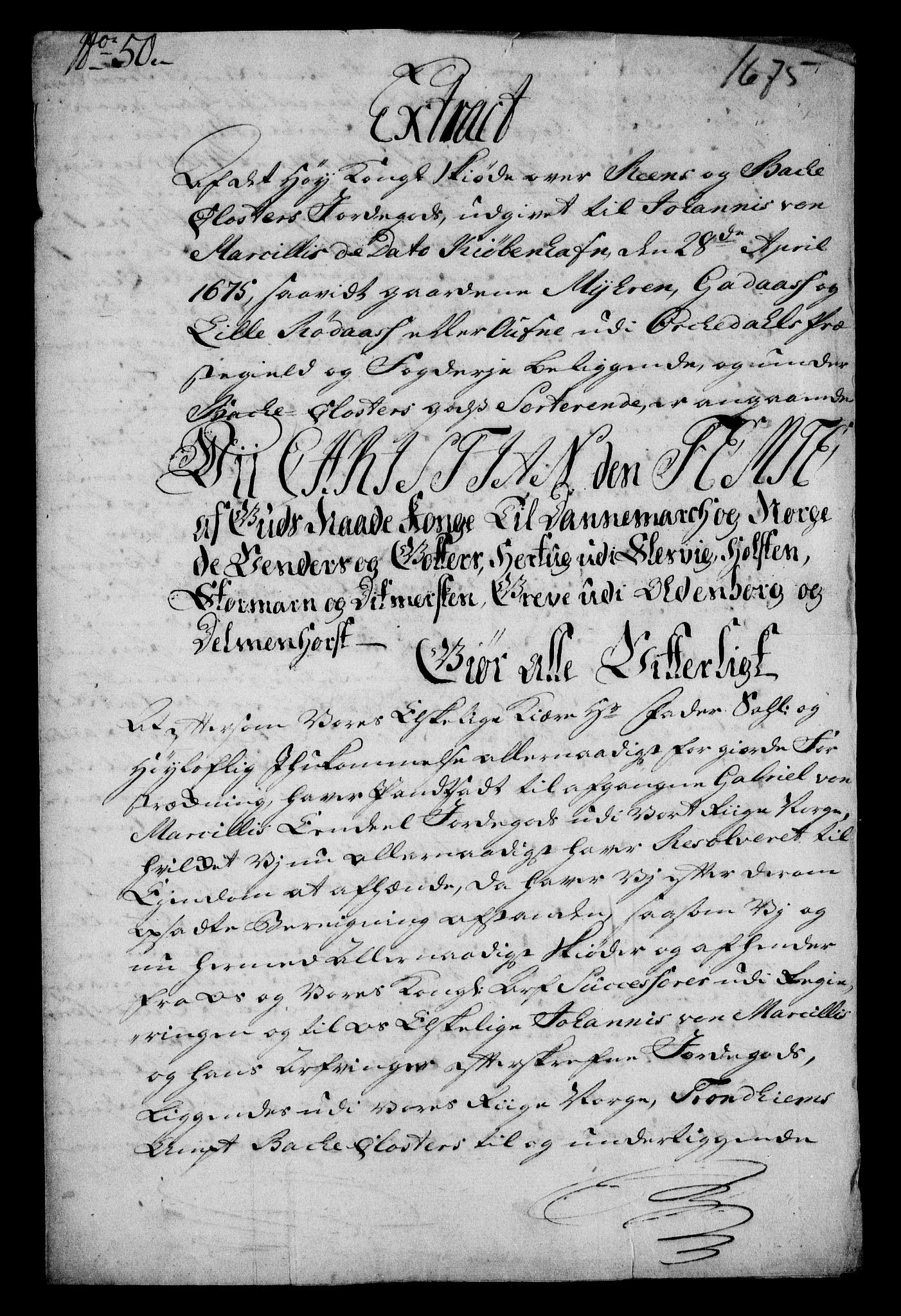 RA, Rentekammeret inntil 1814, Realistisk ordnet avdeling, On/L0013: [Jj 14]: Forskjellige dokumenter om krongodset i Norge, 1672-1722, s. 124