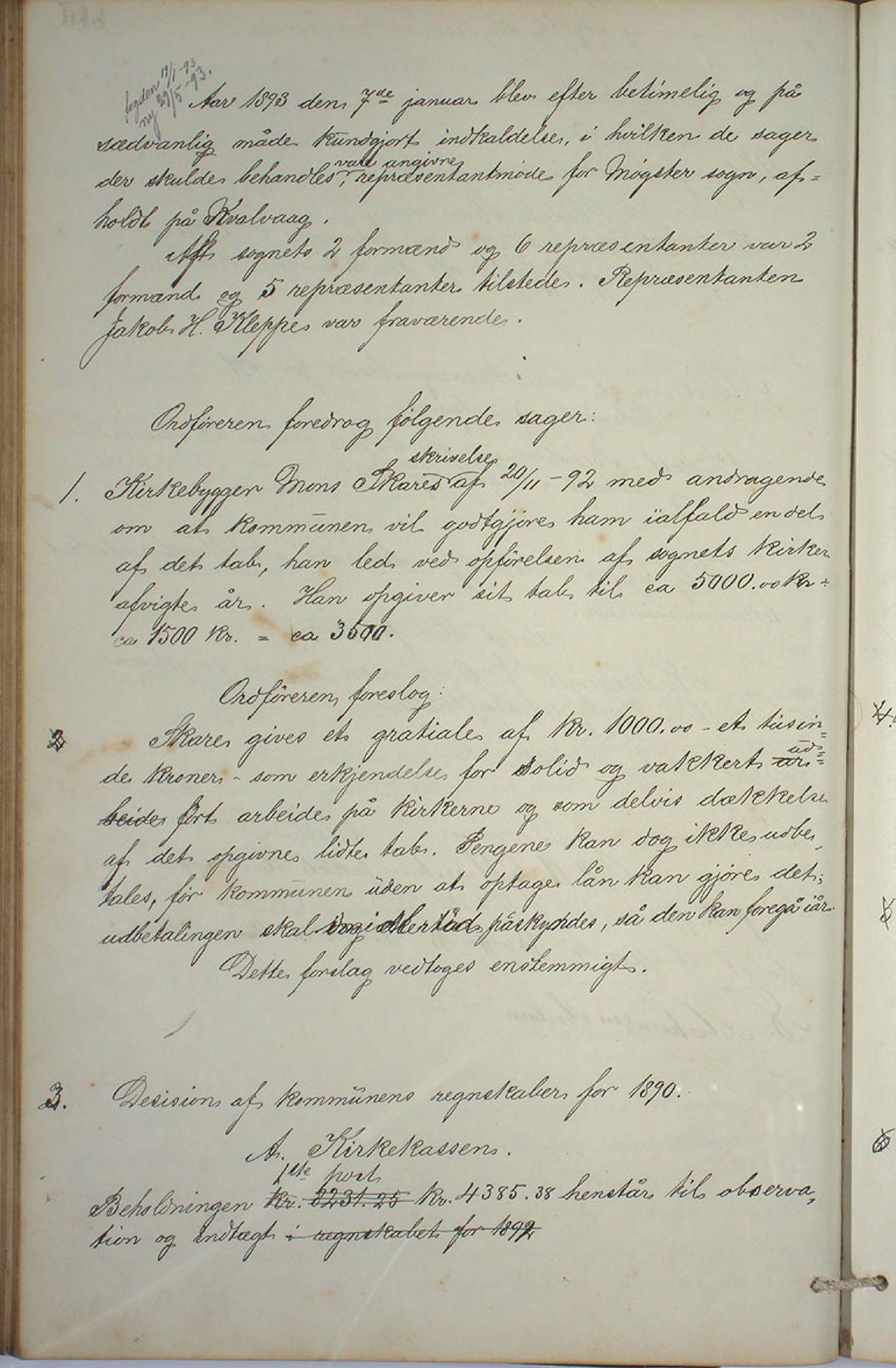 IKAH, Austevoll kommune. Formannskapet, A/Aa/L0001: Østervolds Herredsforhandlings-protokoll, 1886-1900, s. 233