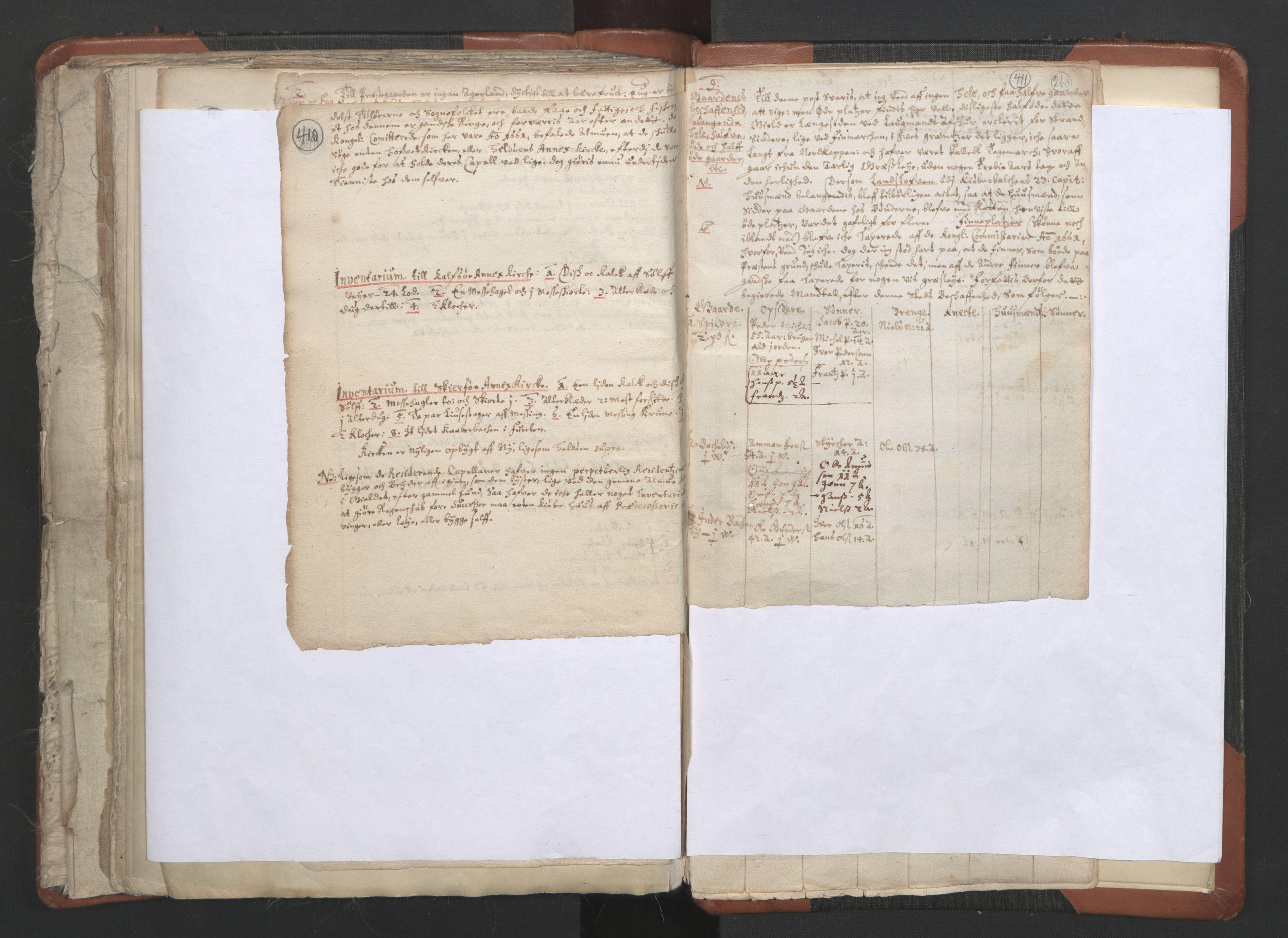 RA, Sogneprestenes manntall 1664-1666, nr. 36: Lofoten og Vesterålen prosti, Senja prosti og Troms prosti, 1664-1666, s. 410-411