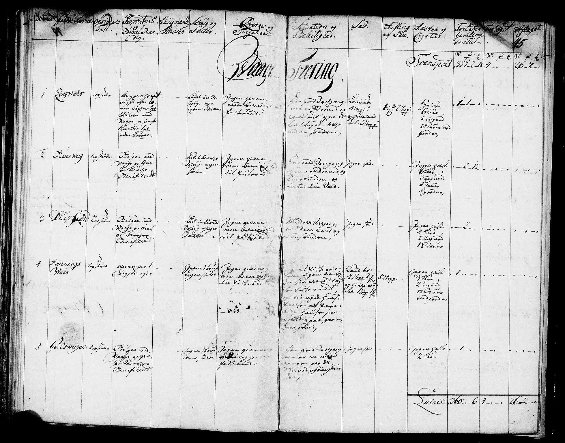 RA, Rentekammeret inntil 1814, Realistisk ordnet avdeling, N/Nb/Nbf/L0174: Lofoten eksaminasjonsprotokoll, 1723, s. 44b-45a