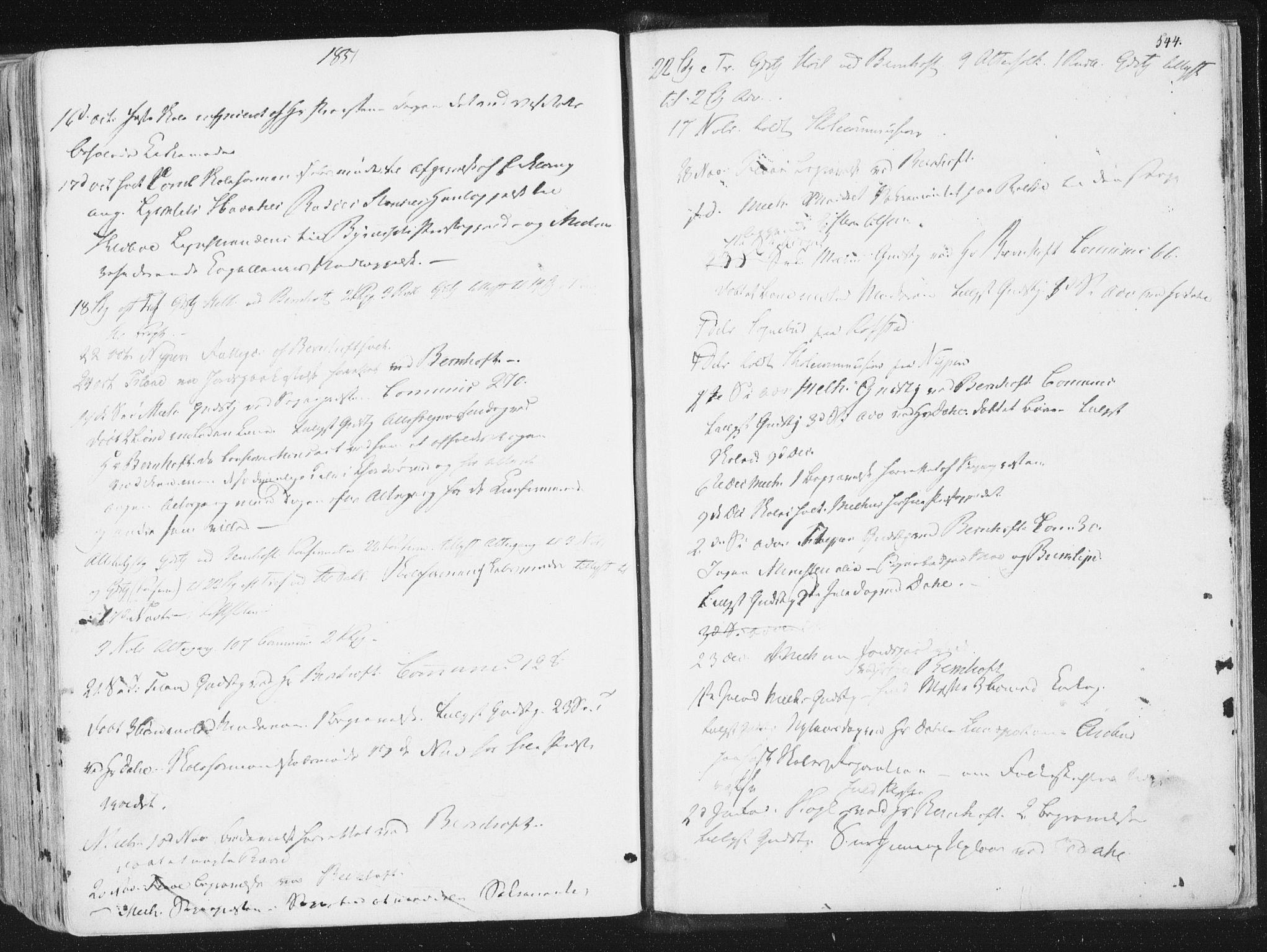 SAT, Ministerialprotokoller, klokkerbøker og fødselsregistre - Sør-Trøndelag, 691/L1074: Ministerialbok nr. 691A06, 1842-1852, s. 544