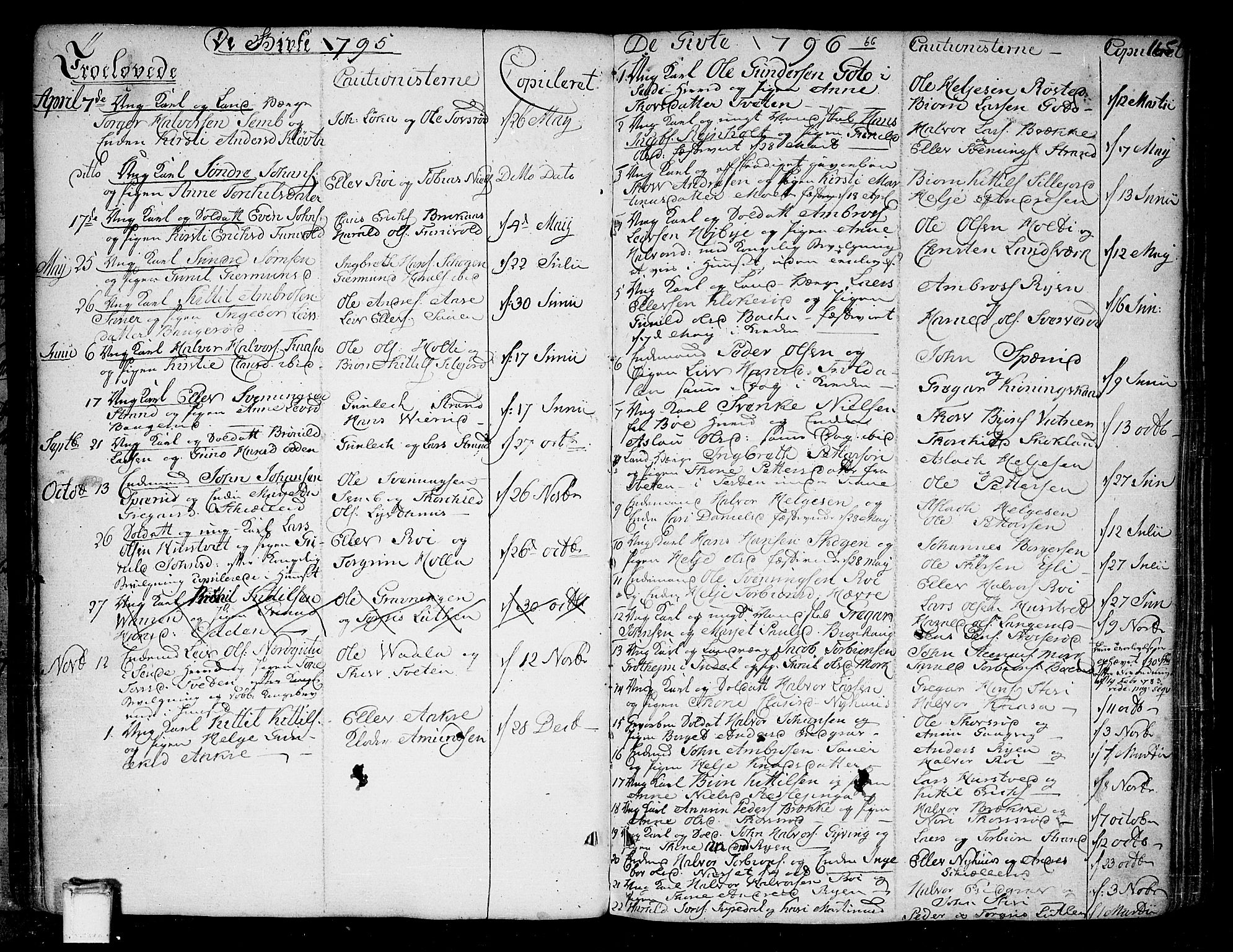 SAKO, Heddal kirkebøker, F/Fa/L0004: Ministerialbok nr. I 4, 1784-1814, s. 165