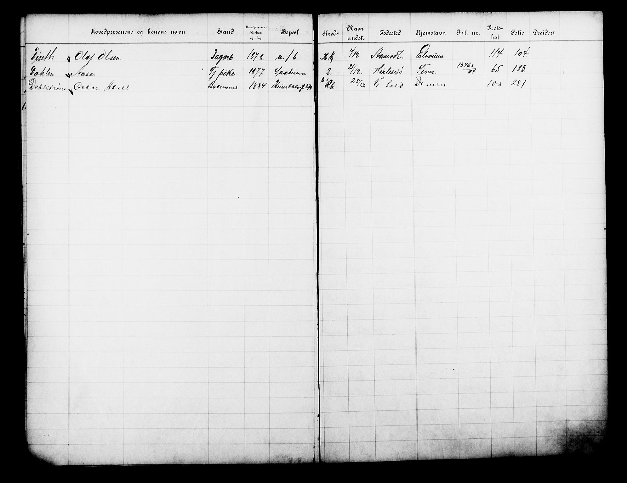 OBA, Fattigvesenet, Fb/L0033: Hjemstavnsregister, 1914, s. 257