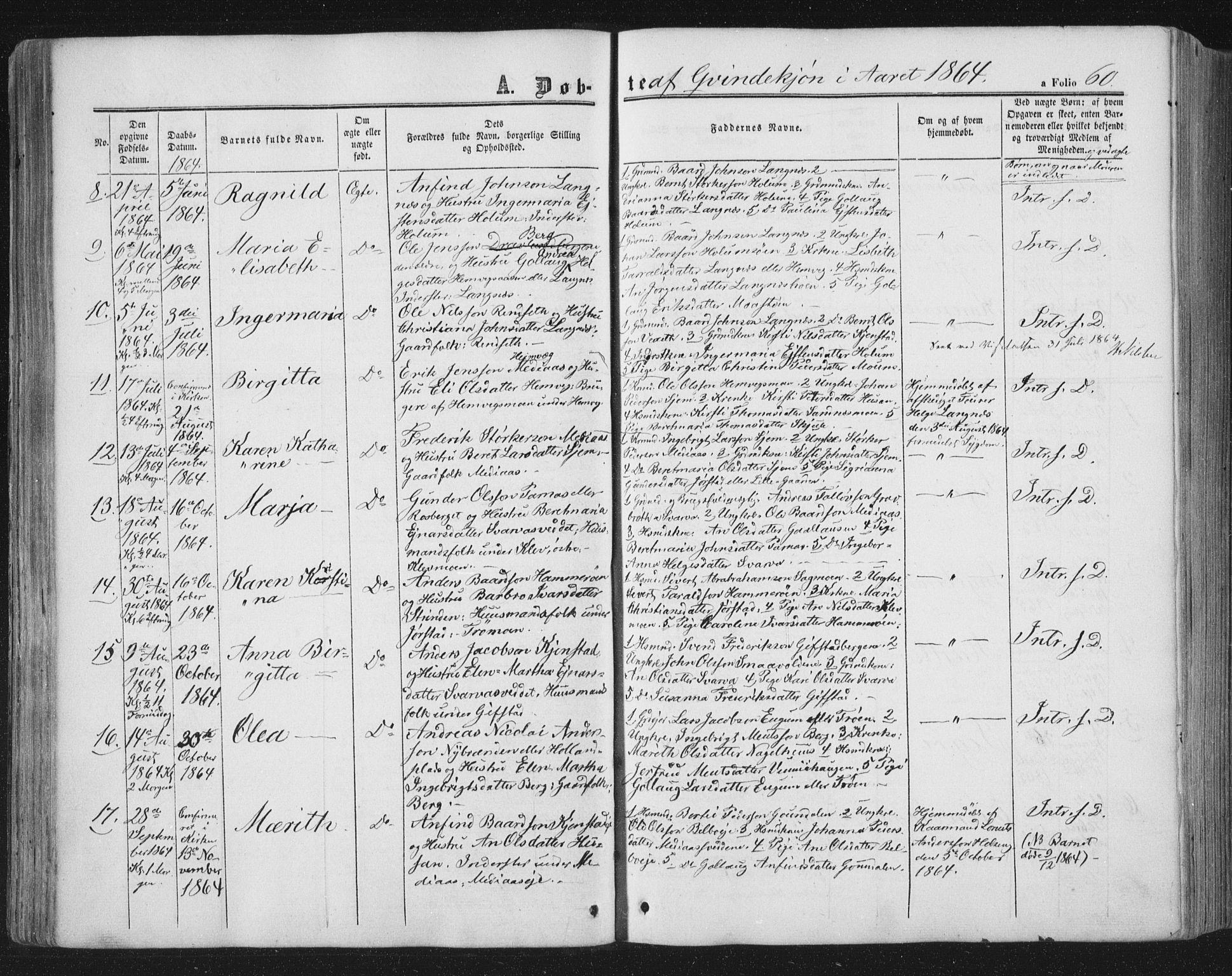 SAT, Ministerialprotokoller, klokkerbøker og fødselsregistre - Nord-Trøndelag, 749/L0472: Ministerialbok nr. 749A06, 1857-1873, s. 60