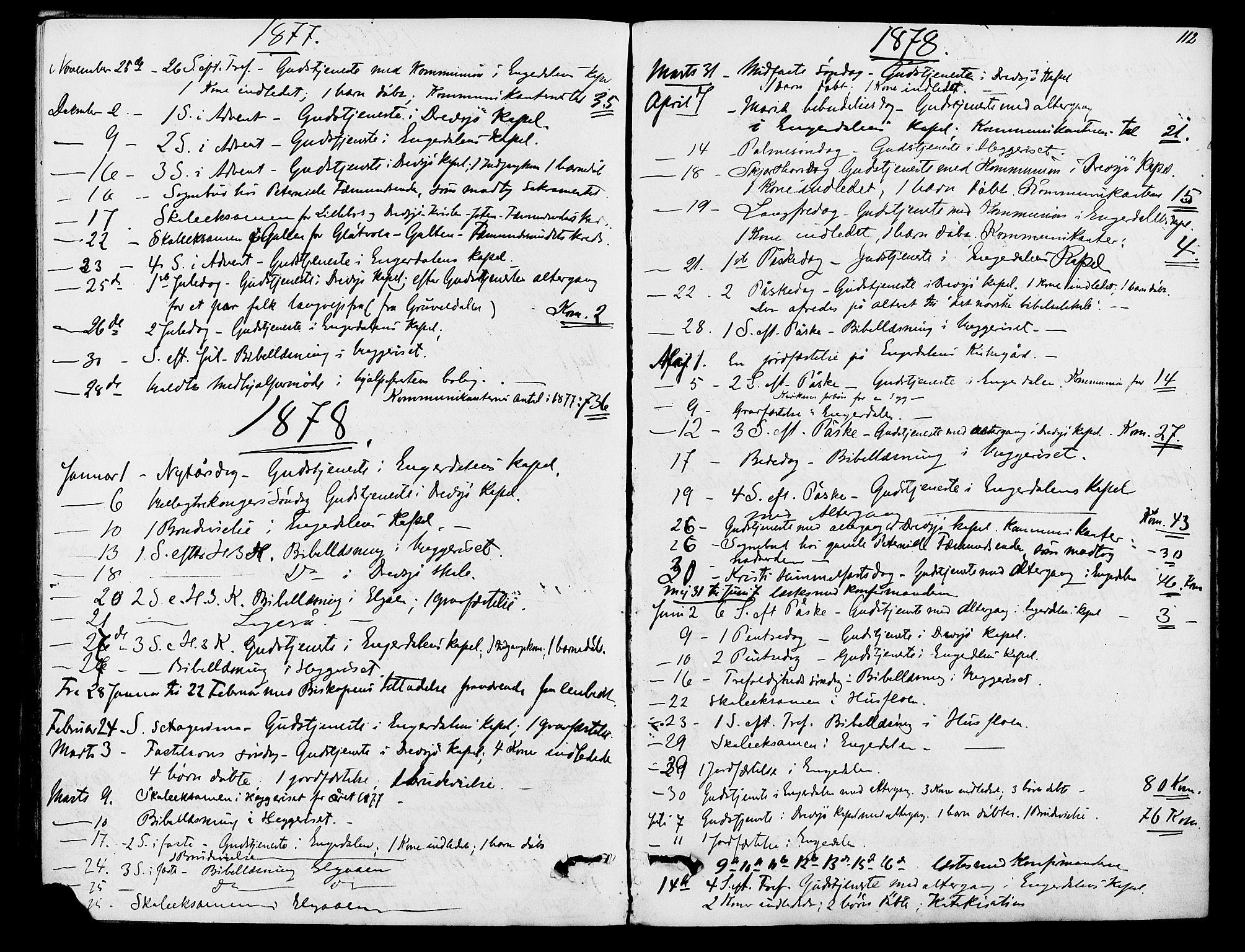 SAH, Rendalen prestekontor, H/Ha/Hab/L0002: Klokkerbok nr. 2, 1858-1880, s. 112