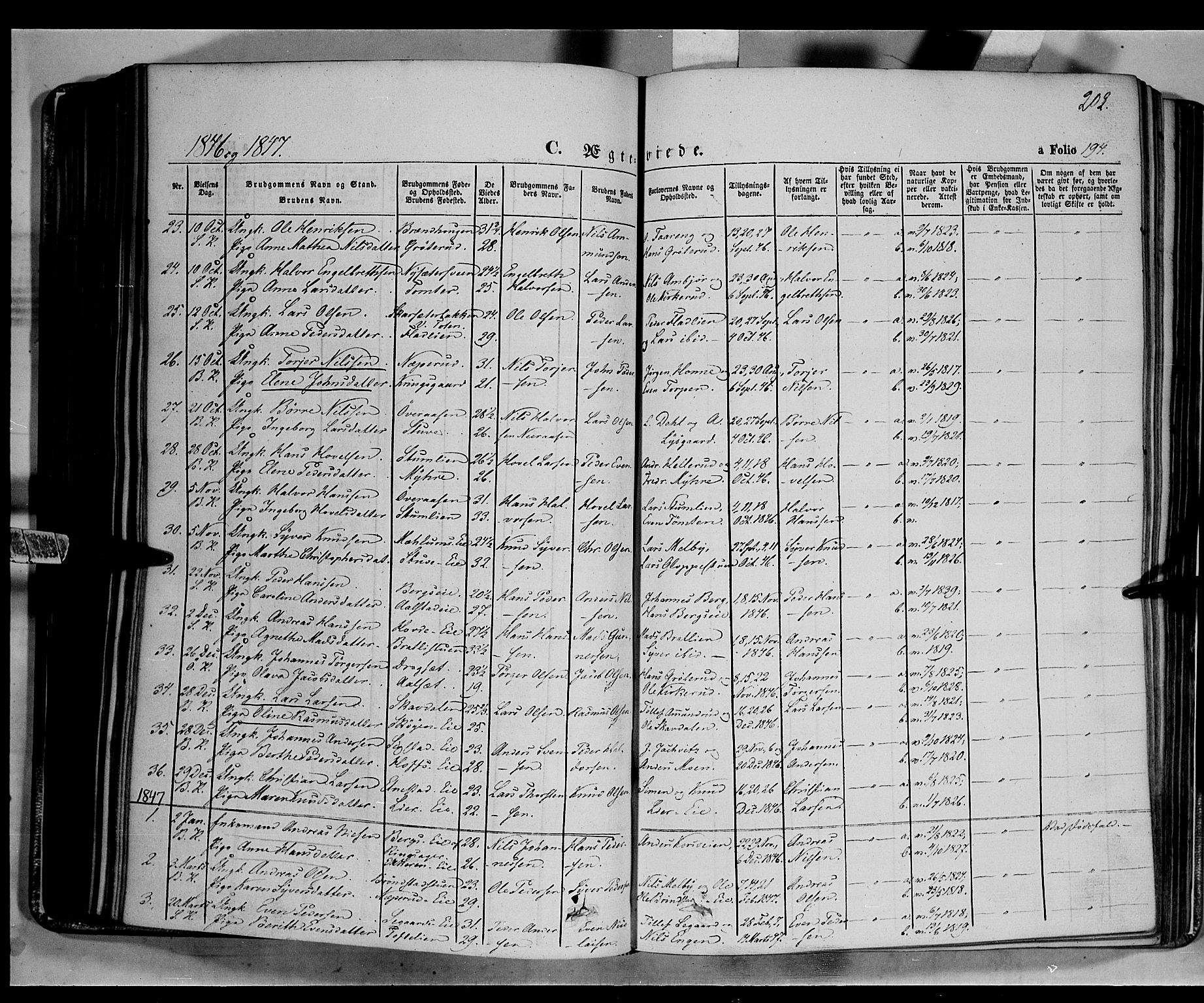 SAH, Biri prestekontor, Ministerialbok nr. 5, 1843-1854, s. 202