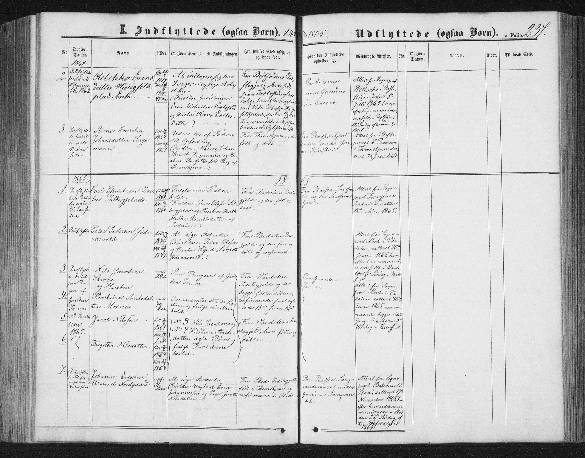 SAT, Ministerialprotokoller, klokkerbøker og fødselsregistre - Nord-Trøndelag, 749/L0472: Ministerialbok nr. 749A06, 1857-1873, s. 237