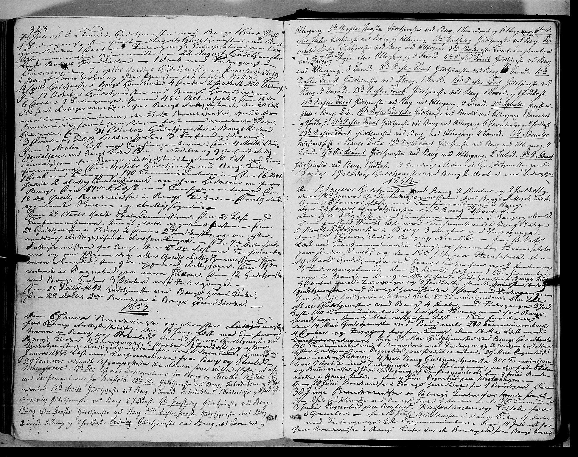 SAH, Sør-Aurdal prestekontor, Ministerialbok nr. 5, 1849-1876, s. 323