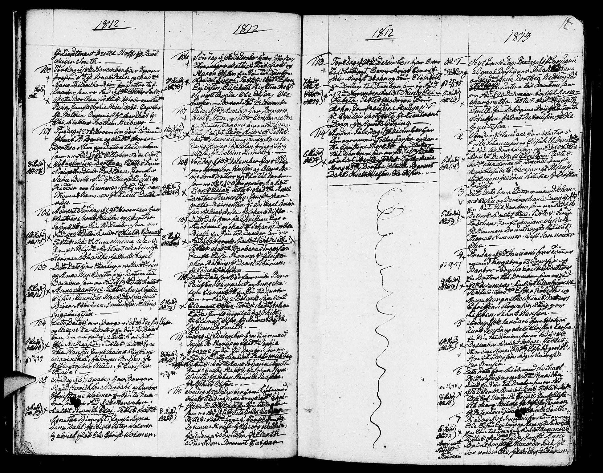 SAB, Nykirken Sokneprestembete, H/Haa: Ministerialbok nr. A 6, 1808-1820, s. 18