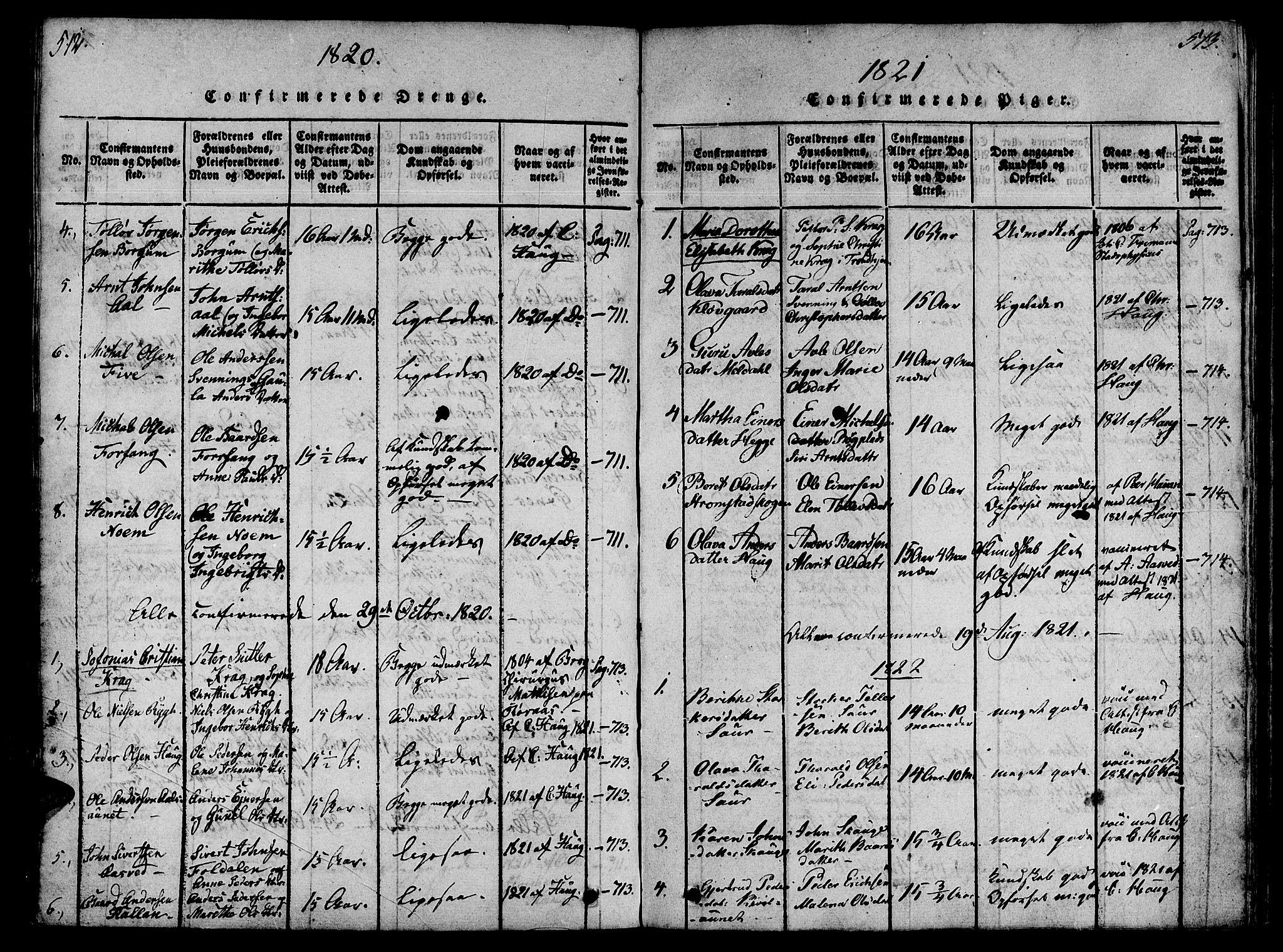 SAT, Ministerialprotokoller, klokkerbøker og fødselsregistre - Nord-Trøndelag, 746/L0441: Ministerialbok nr. 746A03 /2, 1816-1827, s. 512-513
