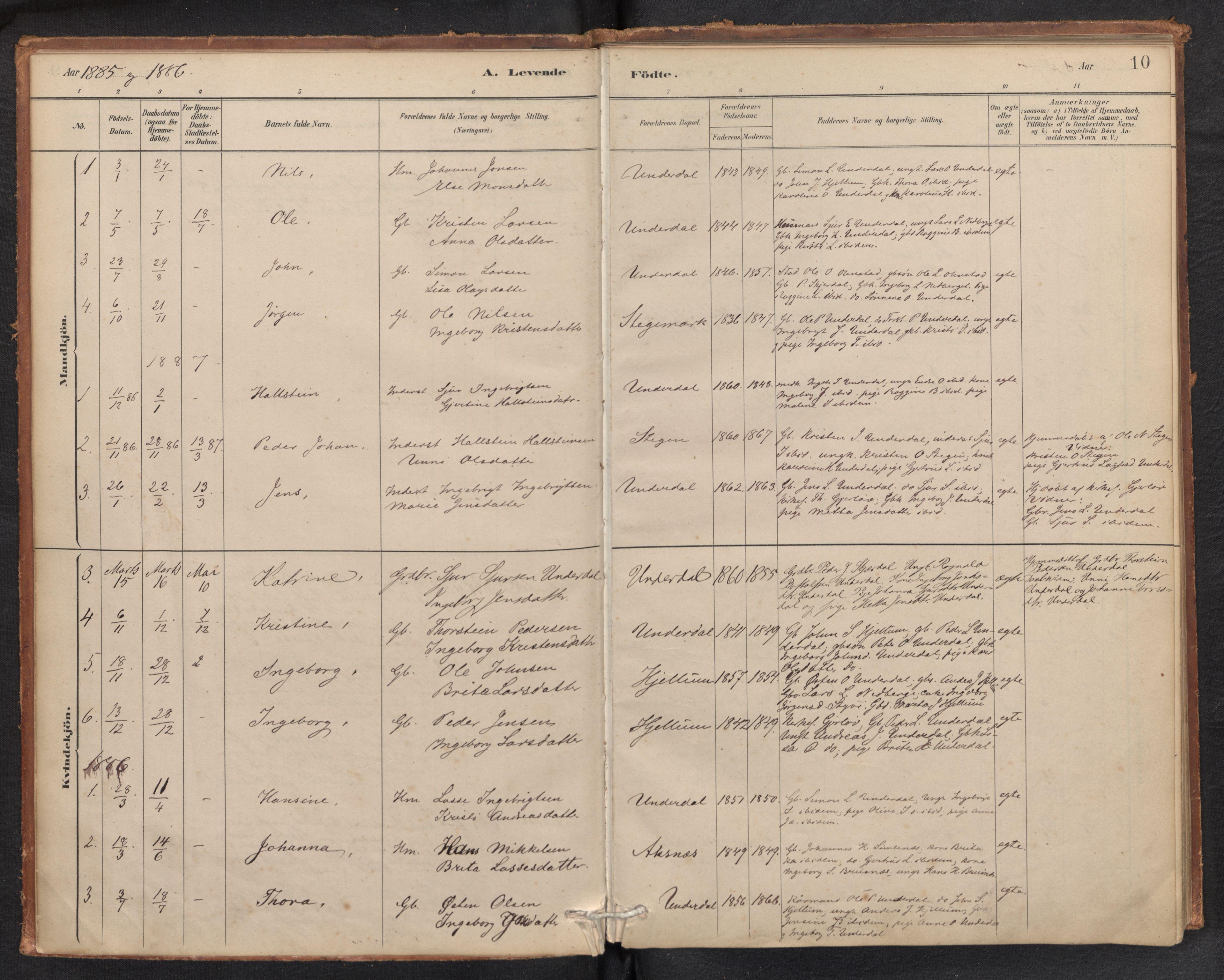 SAB, Aurland Sokneprestembete*, Ministerialbok nr. E 1, 1880-1907, s. 9b-10a