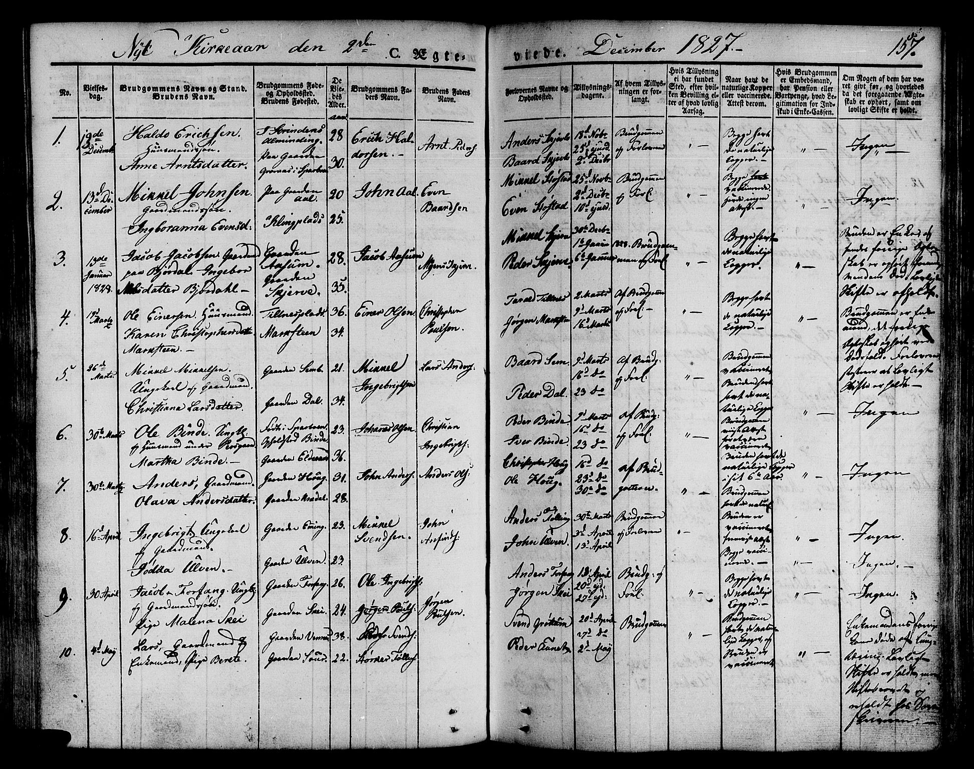 SAT, Ministerialprotokoller, klokkerbøker og fødselsregistre - Nord-Trøndelag, 746/L0445: Ministerialbok nr. 746A04, 1826-1846, s. 157