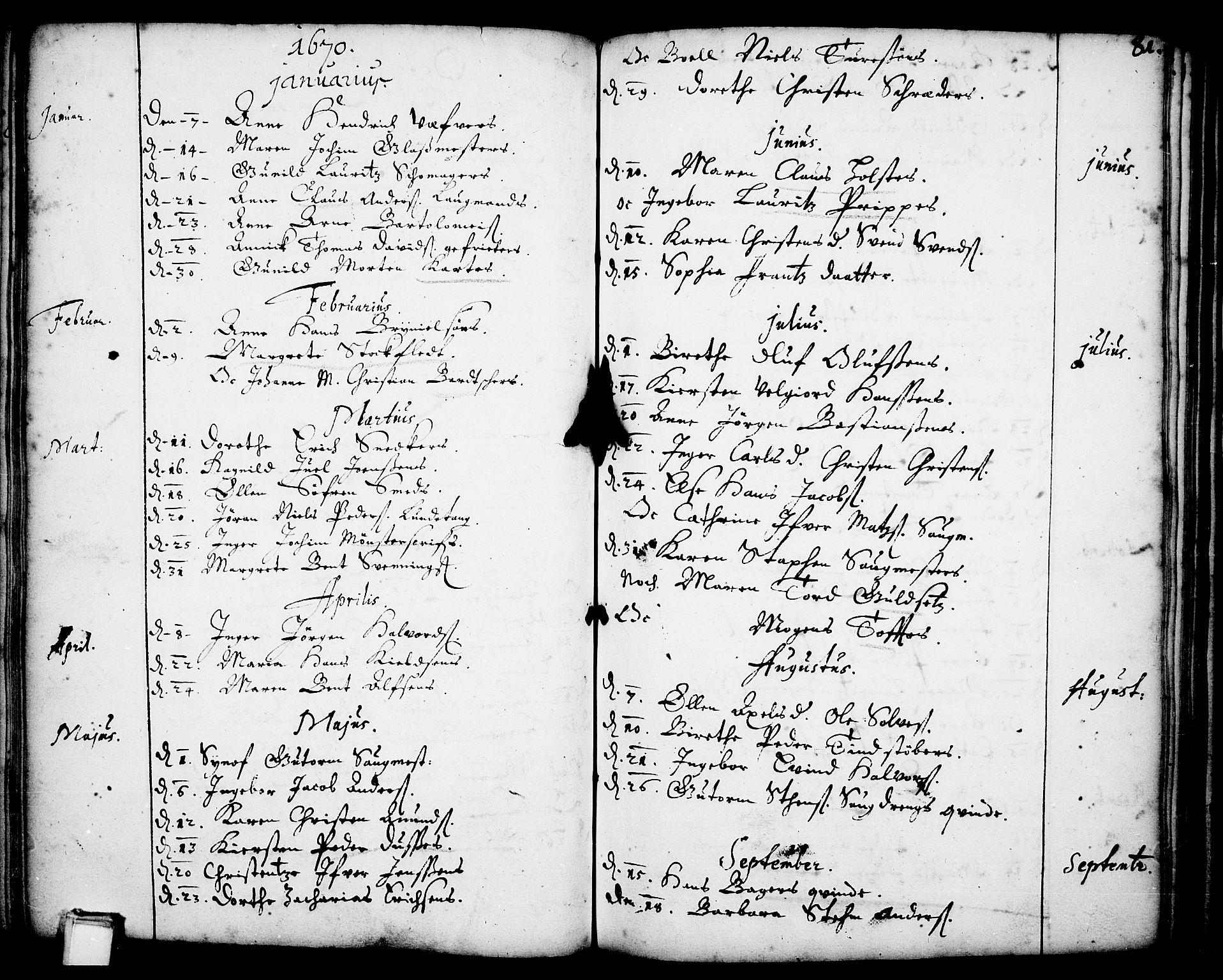 SAKO, Skien kirkebøker, F/Fa/L0001: Ministerialbok nr. 1, 1659-1679, s. 81