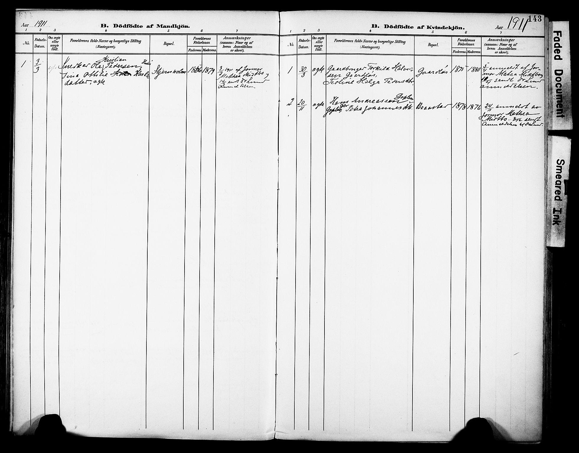 SAH, Vestre Toten prestekontor, H/Ha/Haa/L0013: Ministerialbok nr. 13, 1895-1911, s. 143