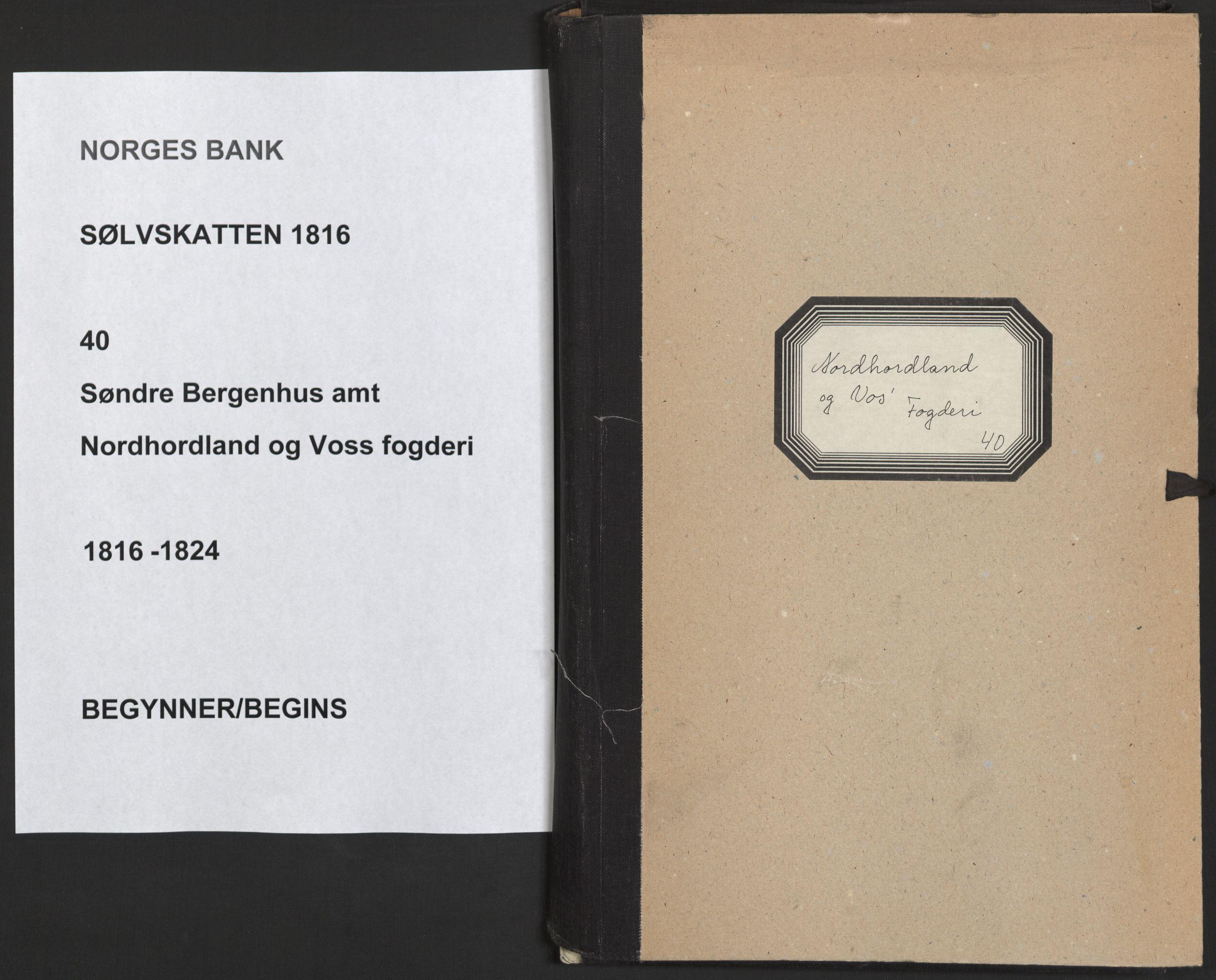 NOBA, Norges Bank/Sølvskatten 1816*, 1816-1824, s. 1