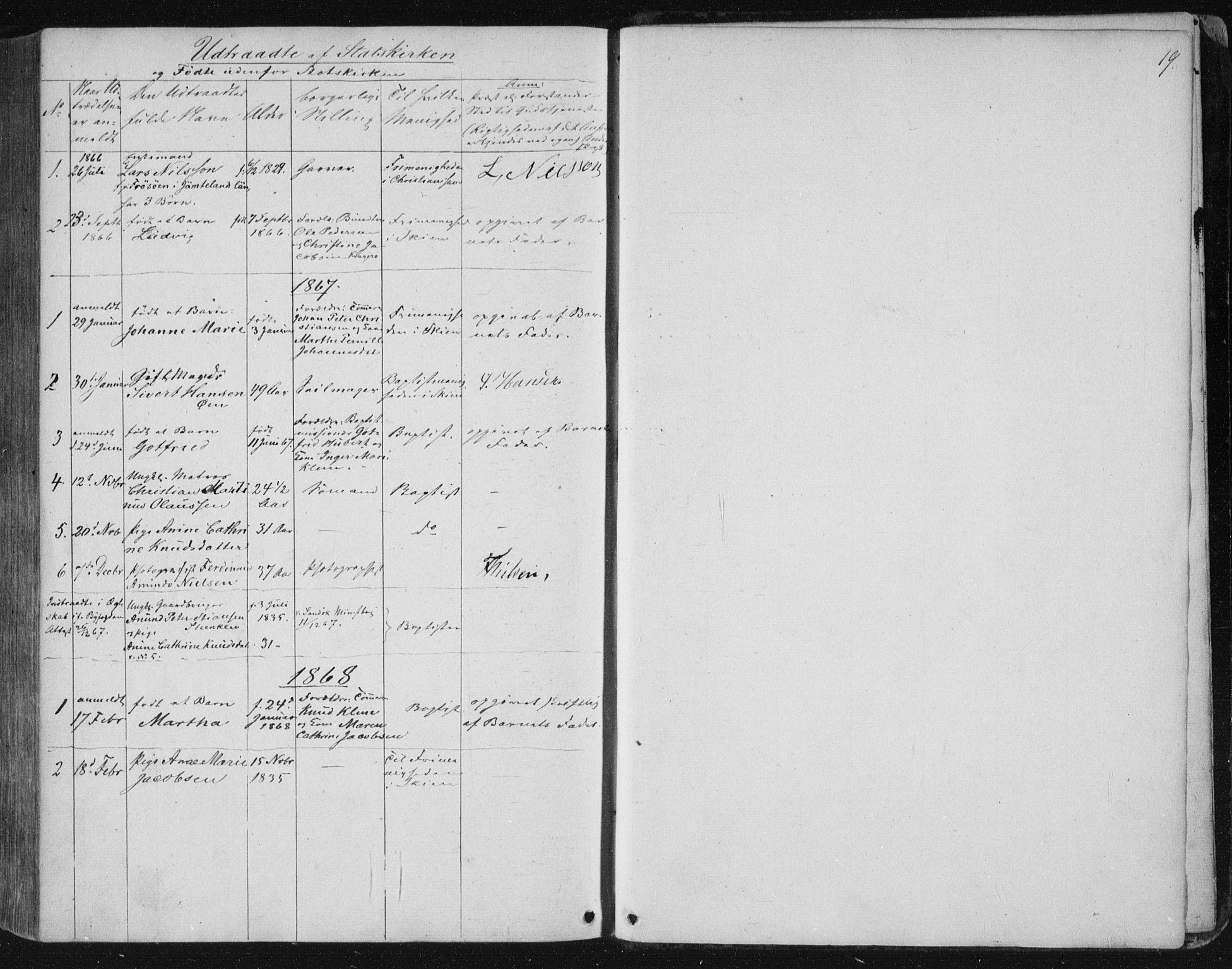 SAKO, Kragerø kirkebøker, F/Fa/L0006: Ministerialbok nr. 6, 1847-1861, s. 19