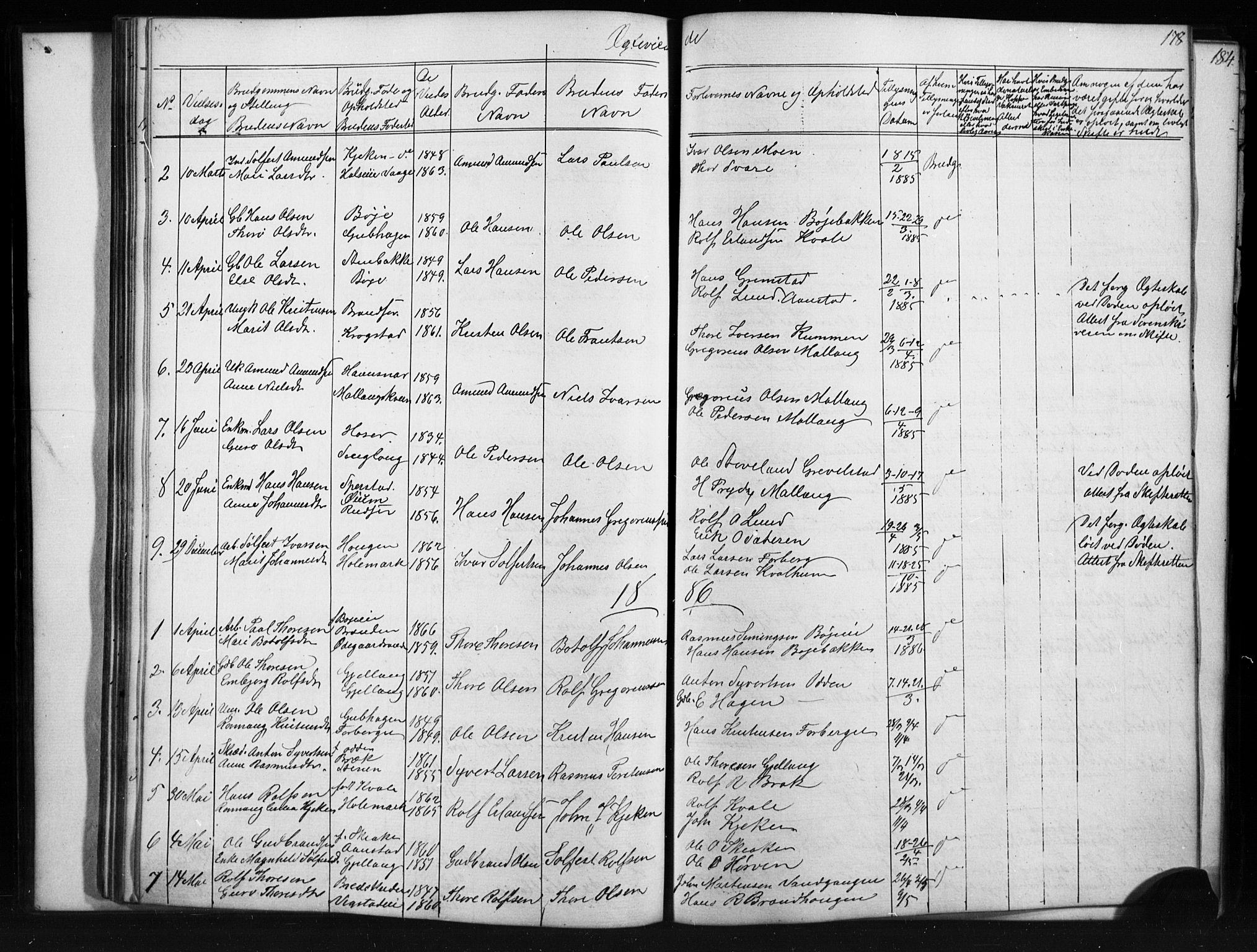 SAH, Skjåk prestekontor, Klokkerbok nr. 1, 1865-1893, s. 178
