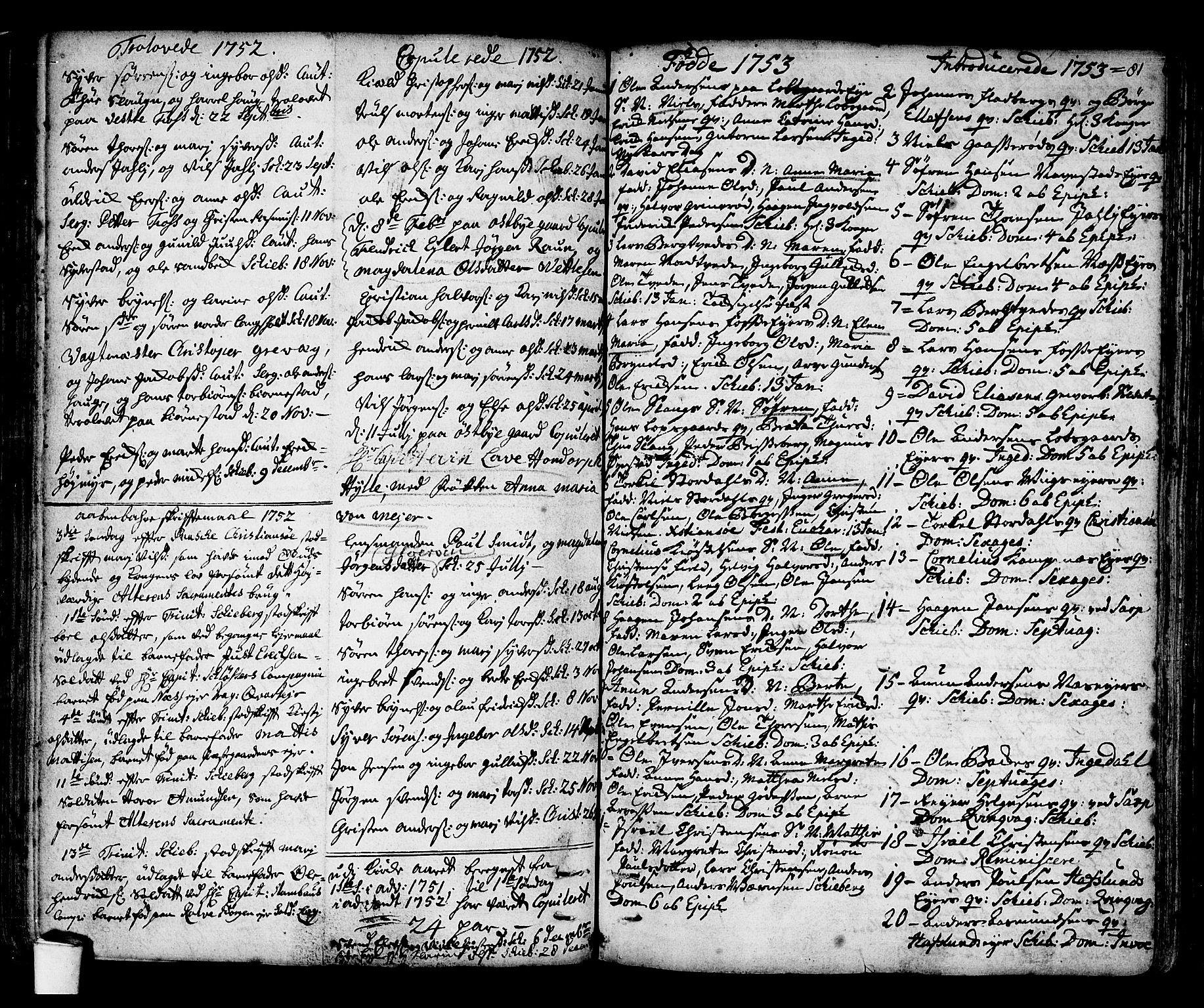 SAO, Skjeberg prestekontor Kirkebøker, F/Fa/L0002: Ministerialbok nr. I 2, 1726-1791, s. 81