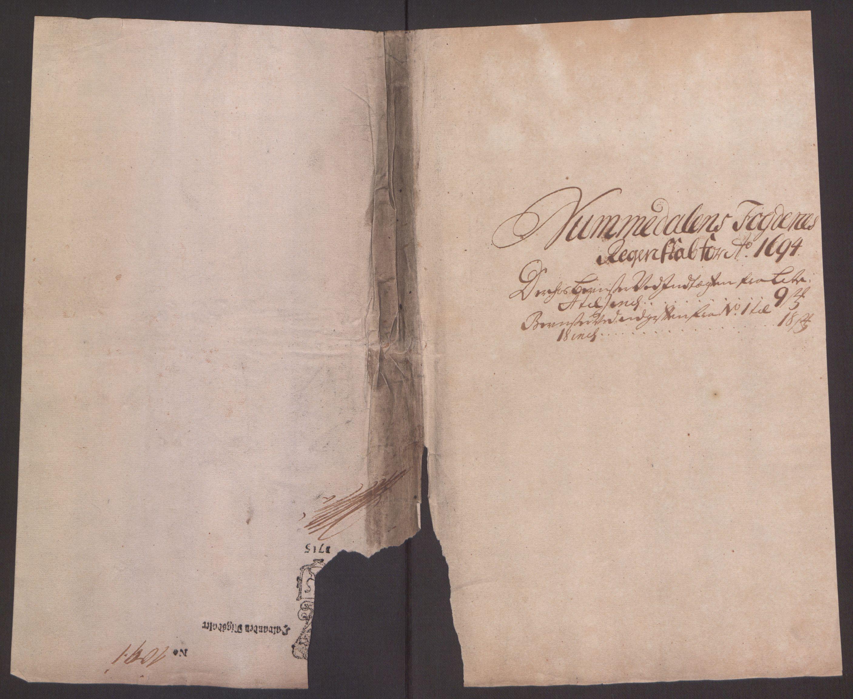 RA, Rentekammeret inntil 1814, Reviderte regnskaper, Fogderegnskap, R64/L4424: Fogderegnskap Namdal, 1692-1695, s. 395