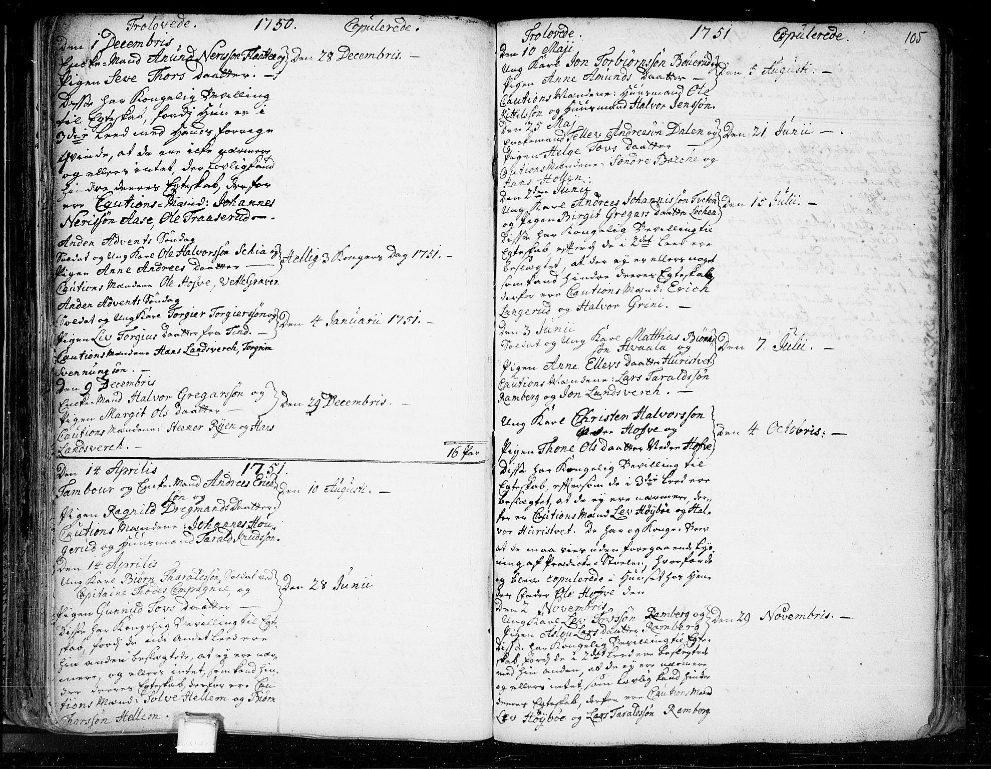 SAKO, Heddal kirkebøker, F/Fa/L0003: Ministerialbok nr. I 3, 1723-1783, s. 105