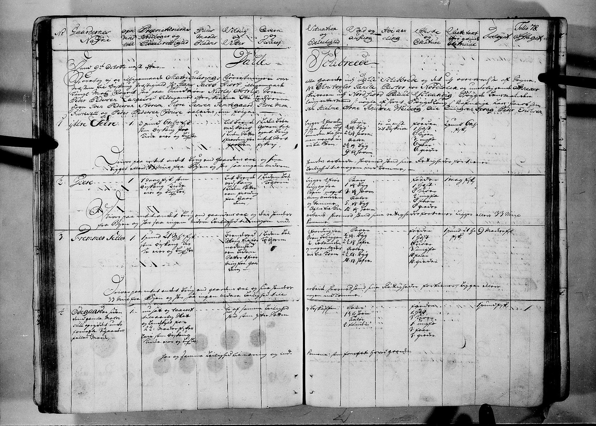 RA, Rentekammeret inntil 1814, Realistisk ordnet avdeling, N/Nb/Nbf/L0150: Sunnmøre eksaminasjonsprotokoll, 1724, s. 77b-78a
