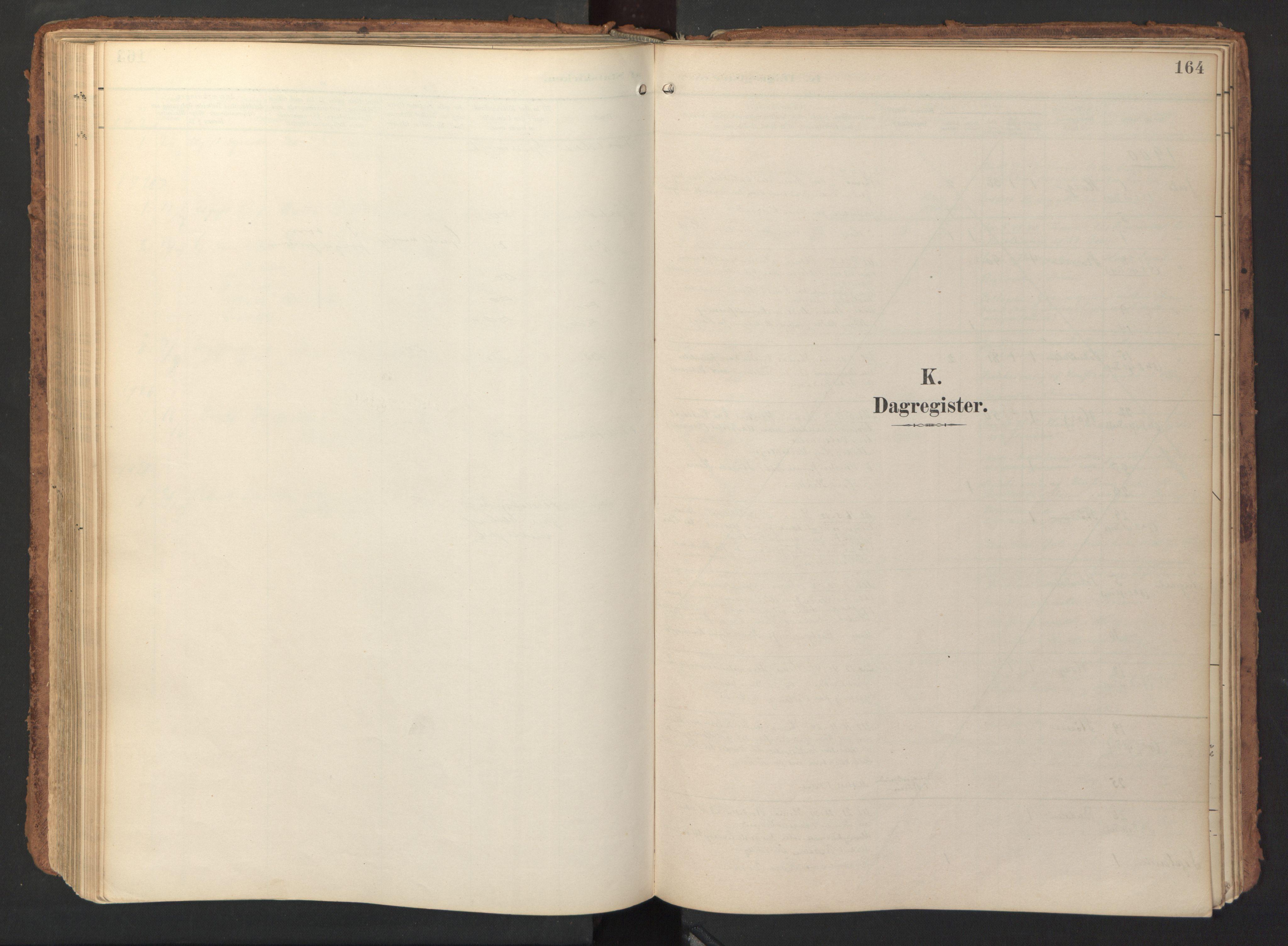 SAT, Ministerialprotokoller, klokkerbøker og fødselsregistre - Sør-Trøndelag, 690/L1050: Ministerialbok nr. 690A01, 1889-1929, s. 164