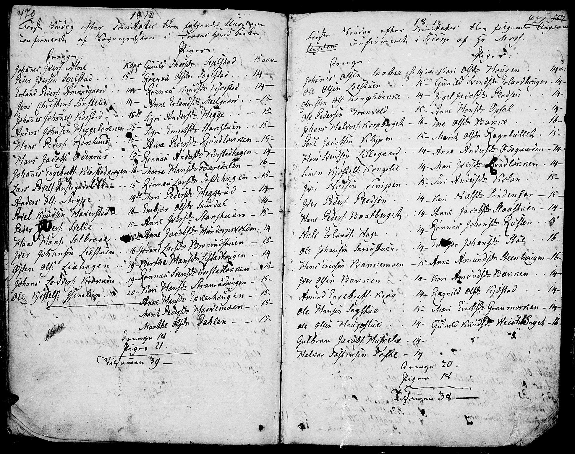 SAH, Fron prestekontor, H/Ha/Haa/L0001: Ministerialbok nr. 1, 1799-1816, s. 470-471