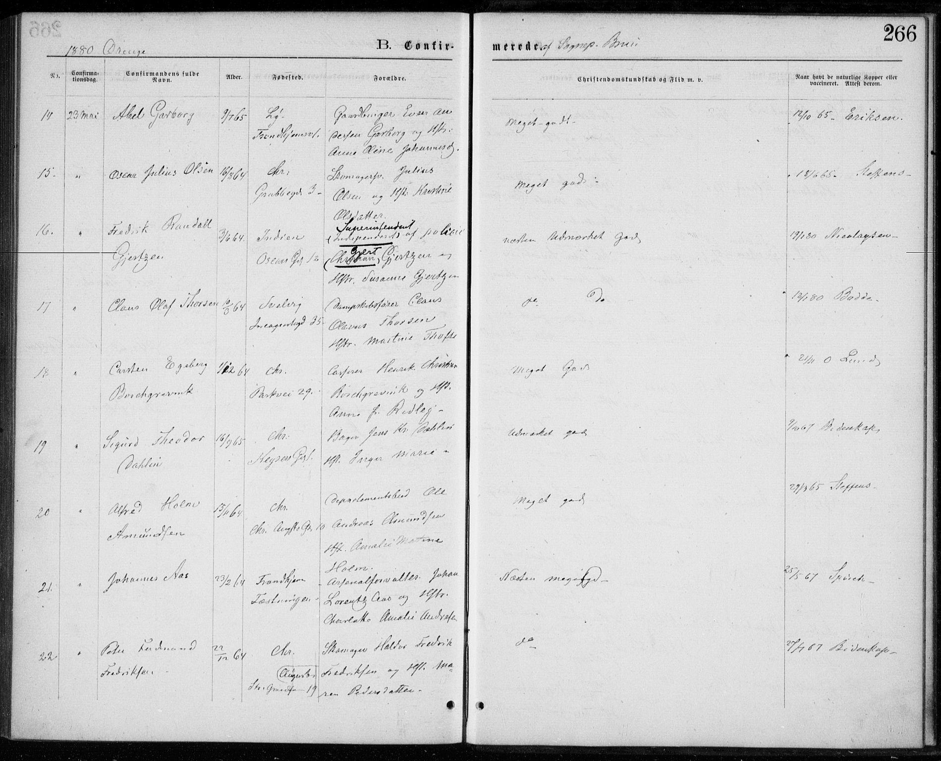 SAO, Trefoldighet prestekontor Kirkebøker, F/Fb/L0002: Ministerialbok nr. II 2, 1871-1880, s. 266