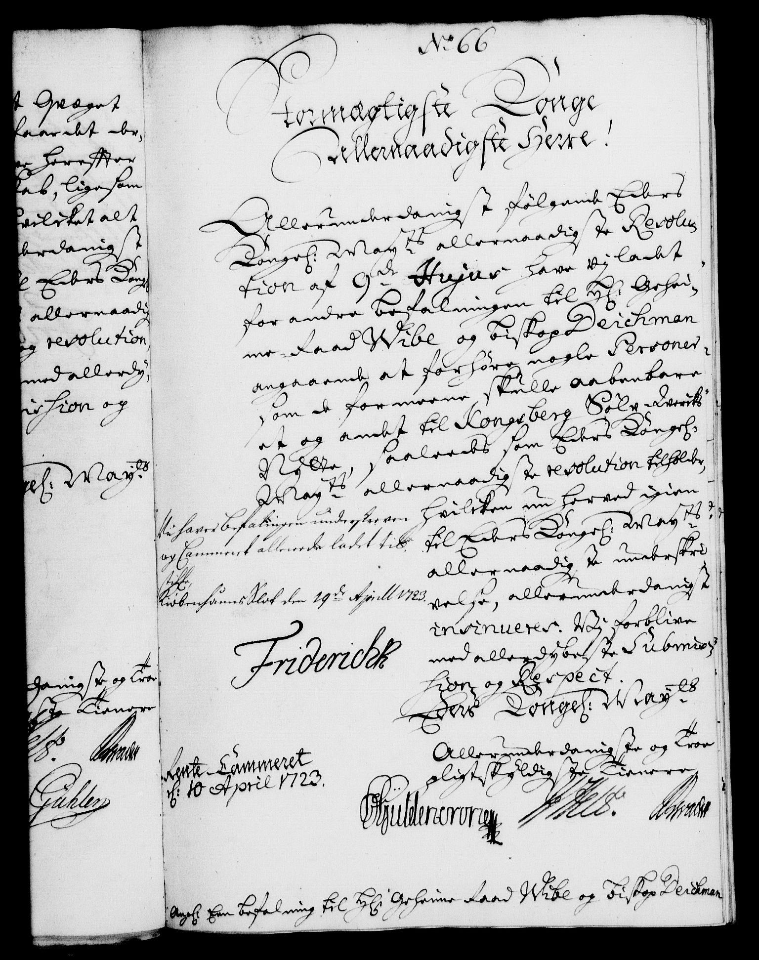 RA, Rentekammeret, Kammerkanselliet, G/Gf/Gfa/L0006: Norsk relasjons- og resolusjonsprotokoll (merket RK 52.6), 1723, s. 465