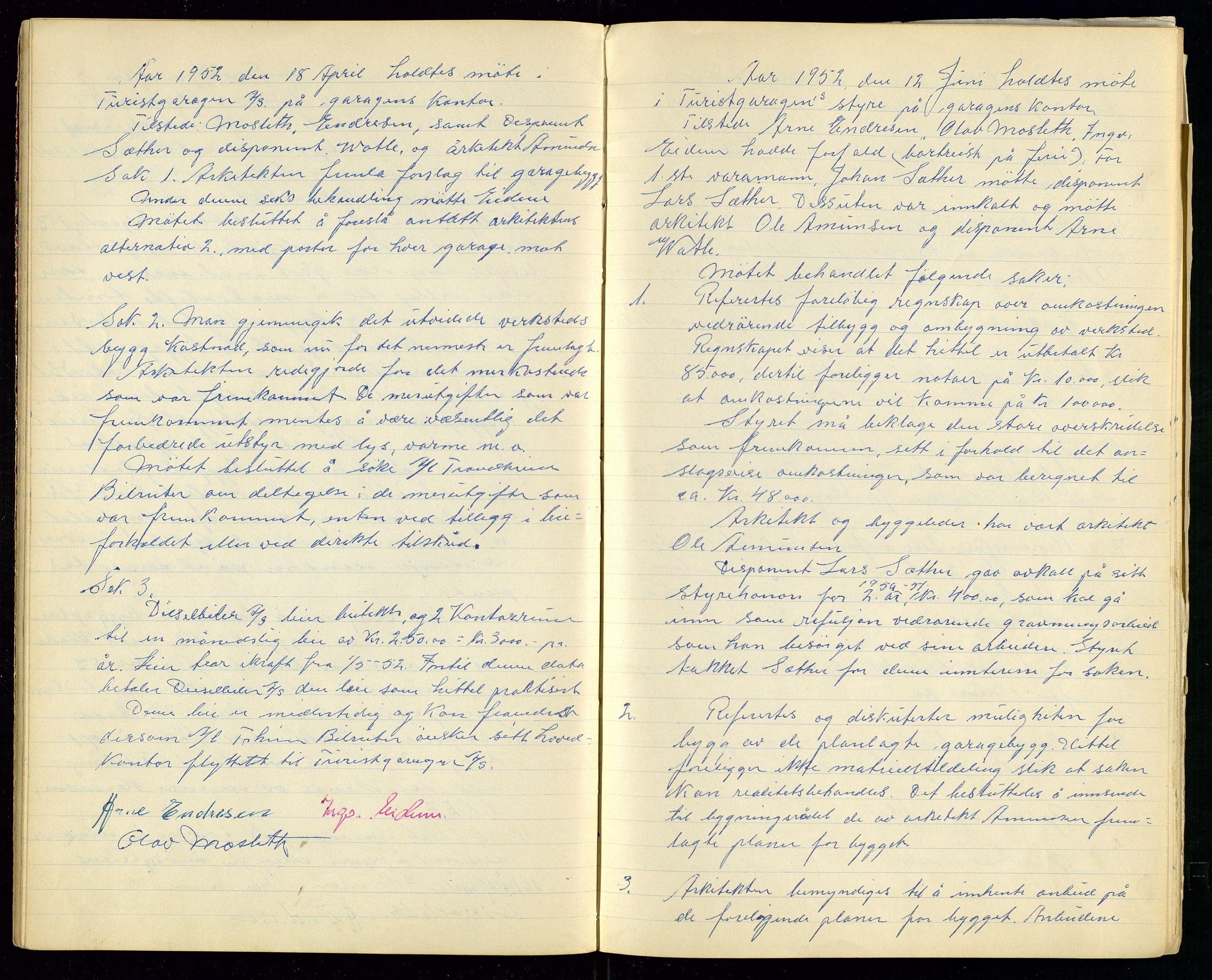 SAST, PA 1515 - Turistgarasjen A/S, A/L0001: Forhandlingsprotokoll, 1937-1958, s. 26