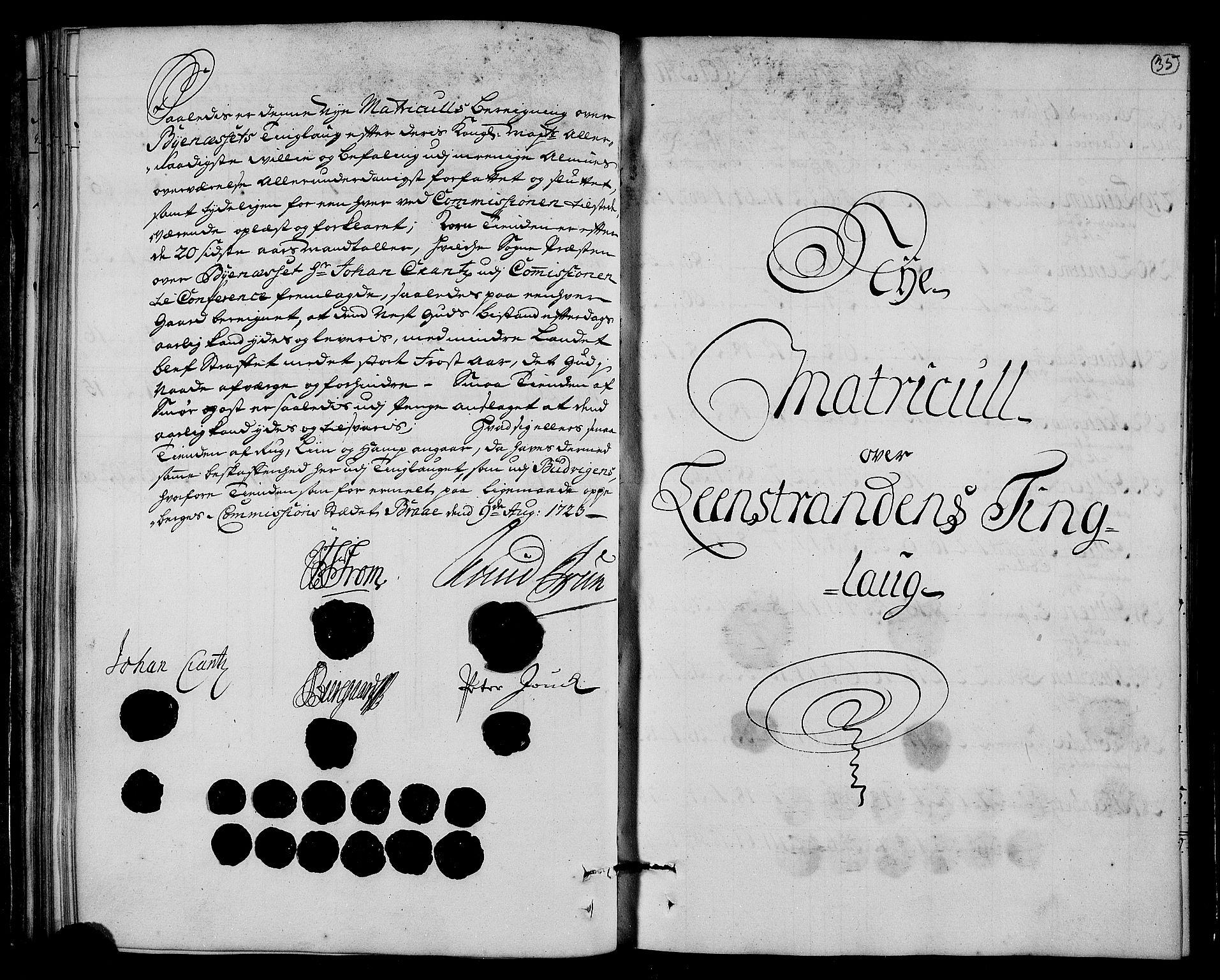 RA, Rentekammeret inntil 1814, Realistisk ordnet avdeling, N/Nb/Nbf/L0161: Strinda og Selbu matrikkelprotokoll, 1723, s. 34b-35a