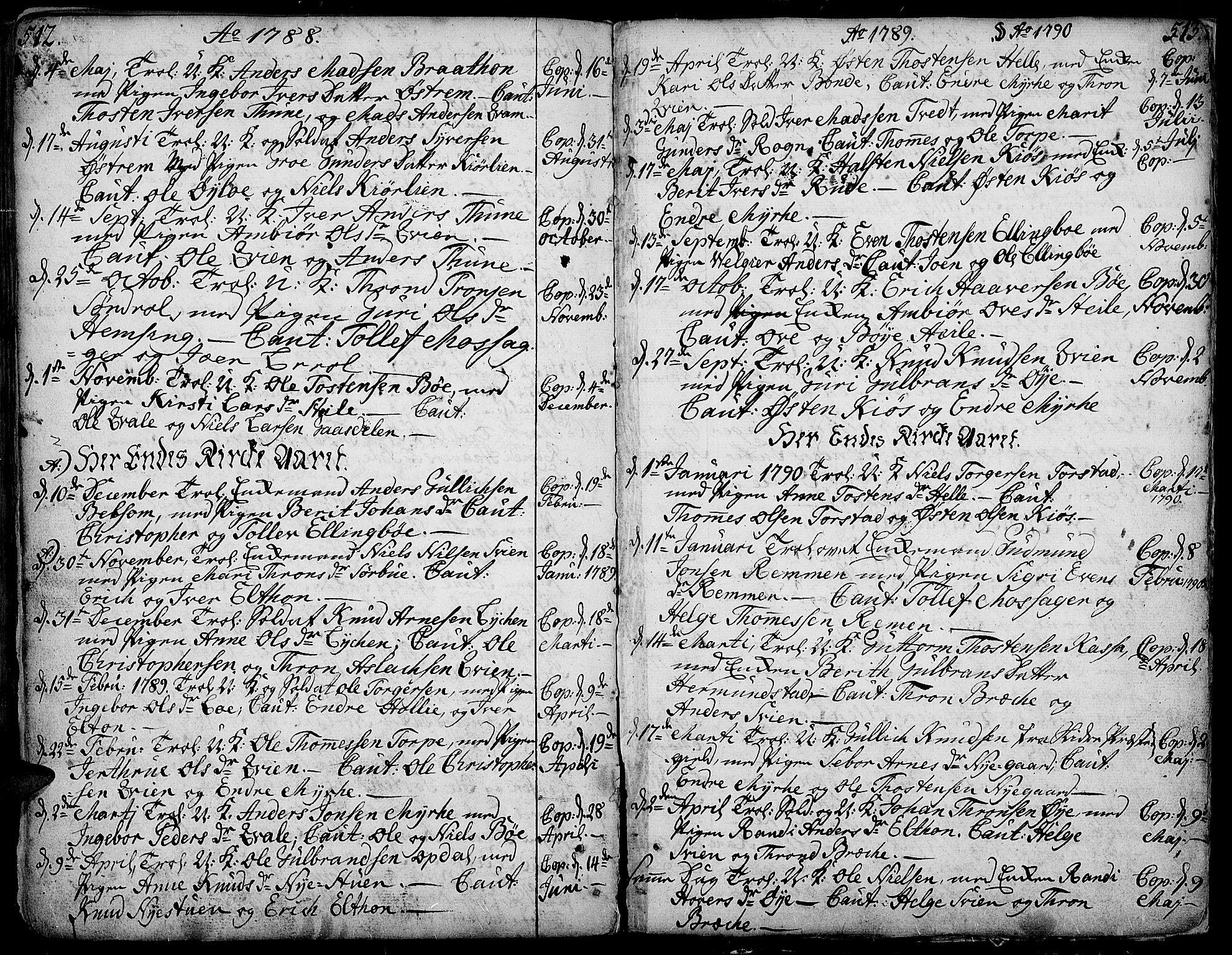 SAH, Vang prestekontor, Valdres, Ministerialbok nr. 1, 1730-1796, s. 512-513