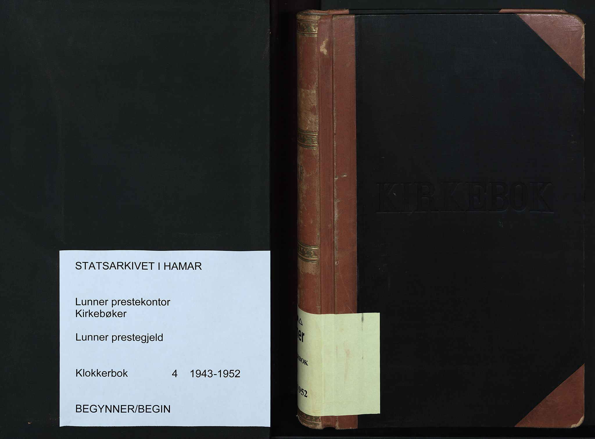 SAH, Lunner prestekontor, H/Ha/Hab/L0004: Klokkerbok nr. 4, 1943-1952