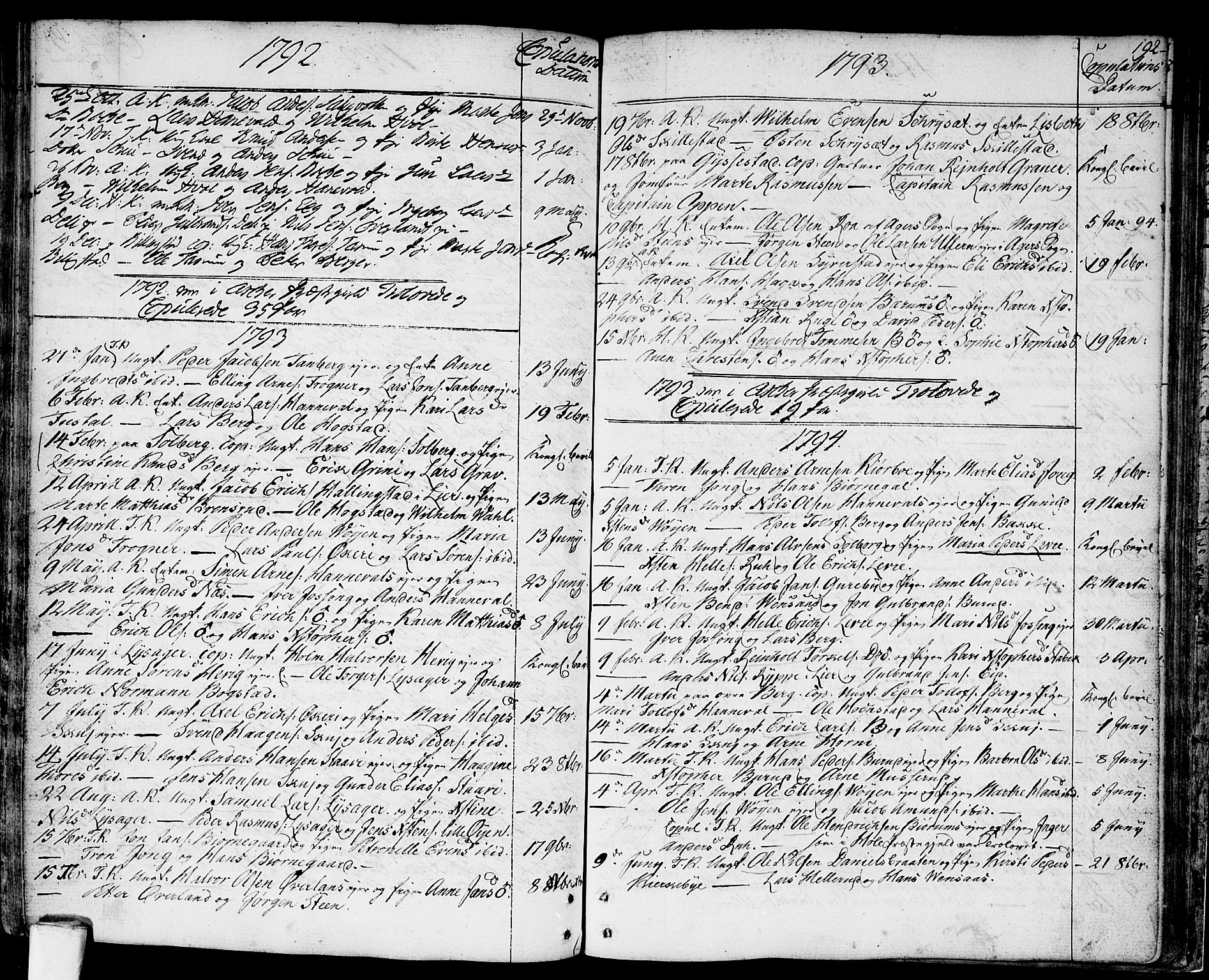 SAO, Asker prestekontor Kirkebøker, F/Fa/L0003: Ministerialbok nr. I 3, 1767-1807, s. 192