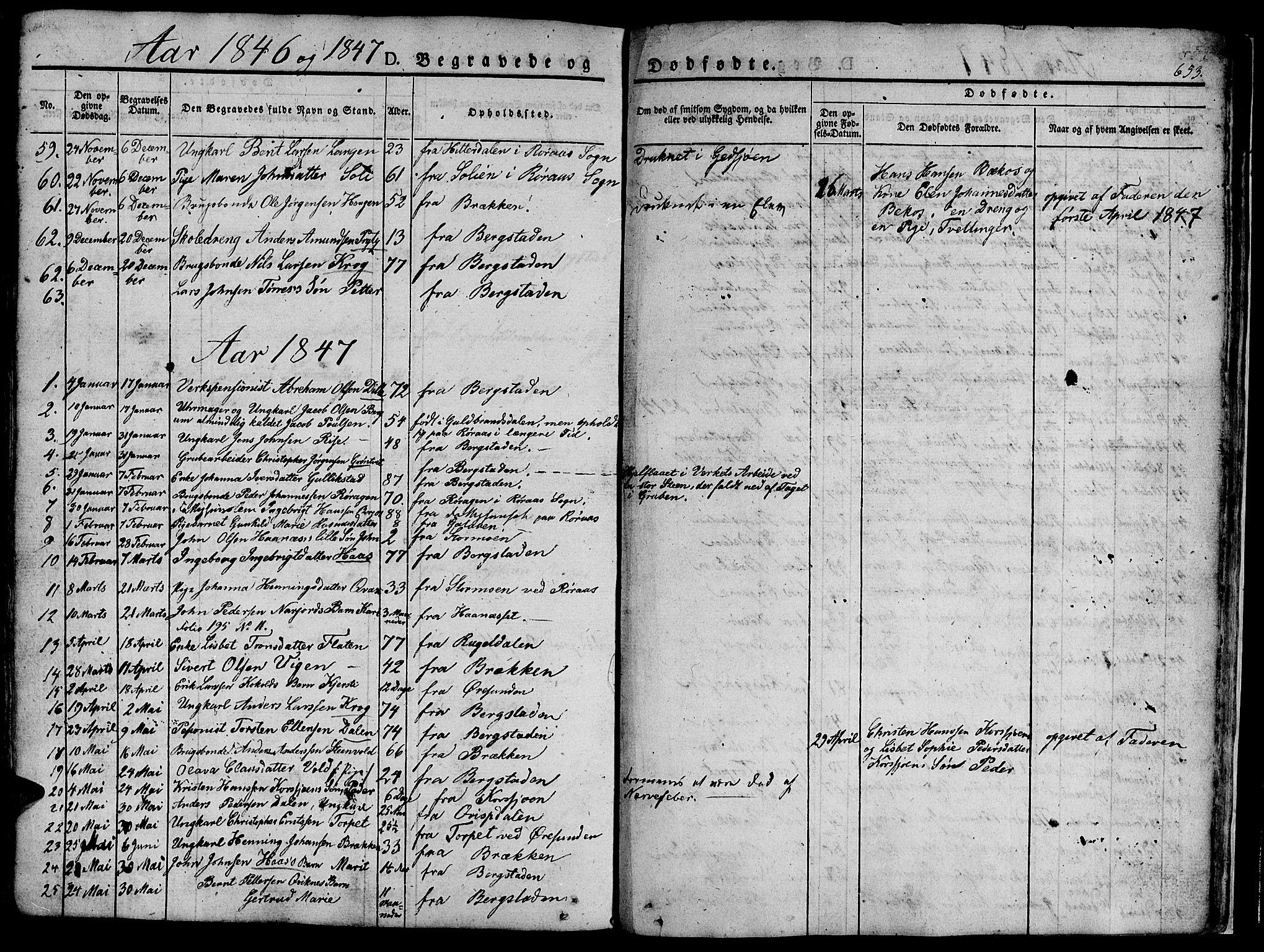 SAT, Ministerialprotokoller, klokkerbøker og fødselsregistre - Sør-Trøndelag, 681/L0939: Klokkerbok nr. 681C03, 1829-1855, s. 653